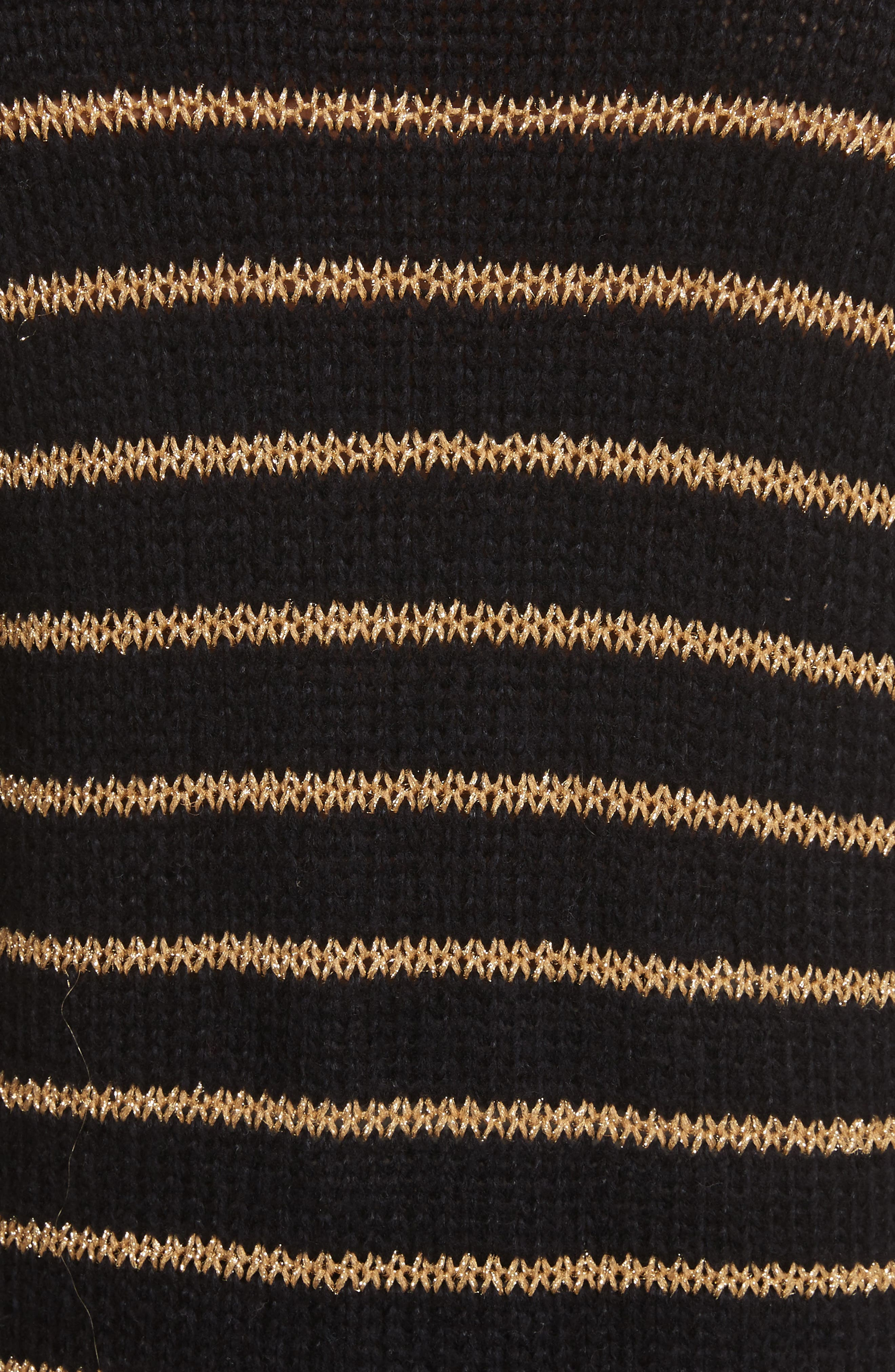 Elisa Metallic Stripe Turtleneck Sweater,                             Alternate thumbnail 5, color,                             010