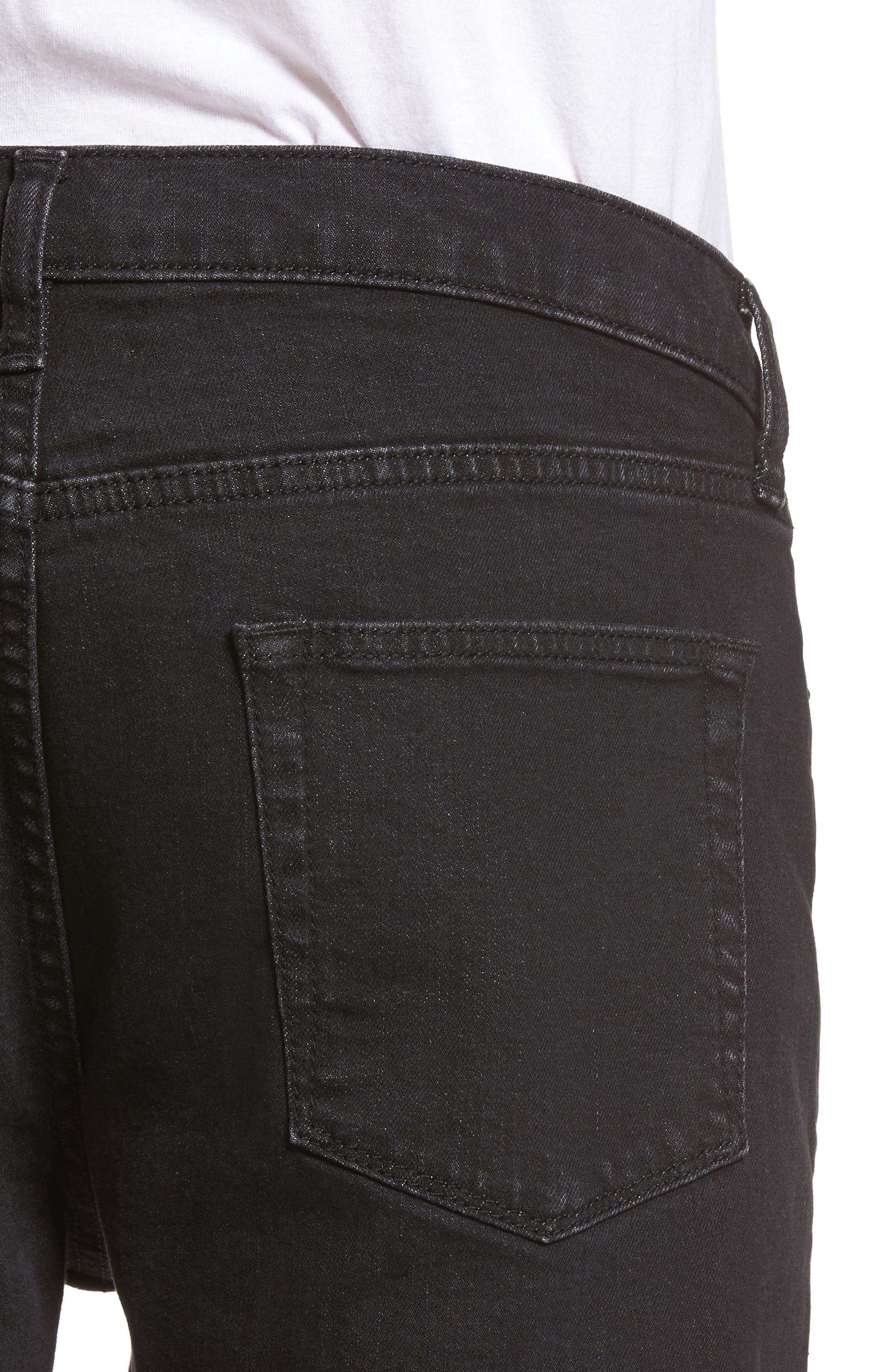 Washed Slim Fit Jeans,                             Alternate thumbnail 4, color,                             001