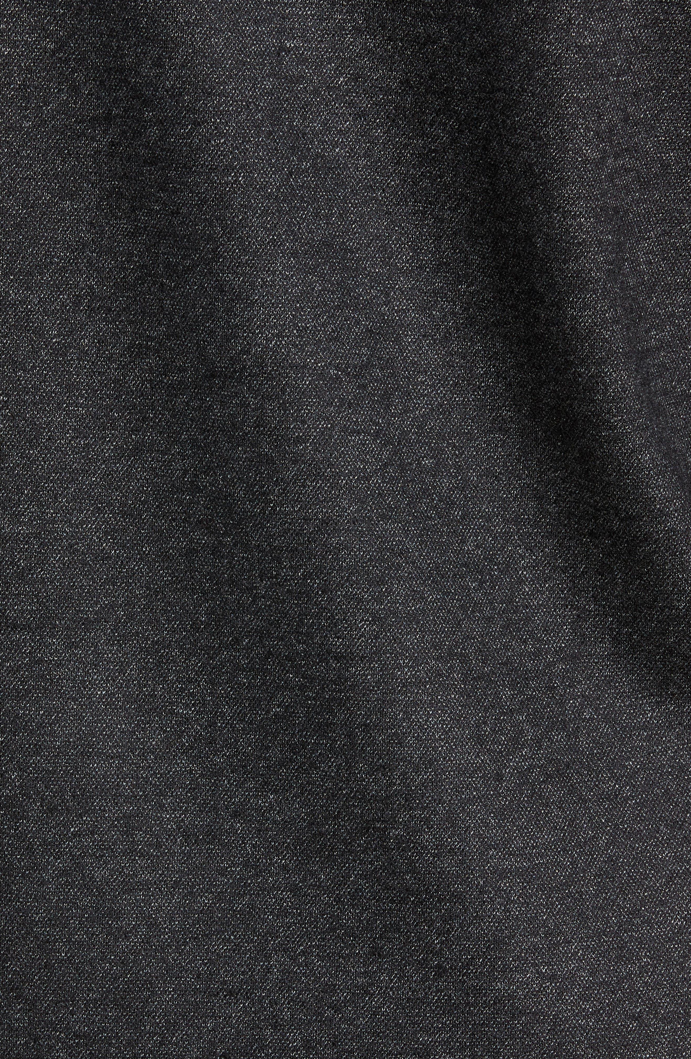 Crewneck Wool Blend Sweater,                             Alternate thumbnail 5, color,                             MEDIUM BLACK