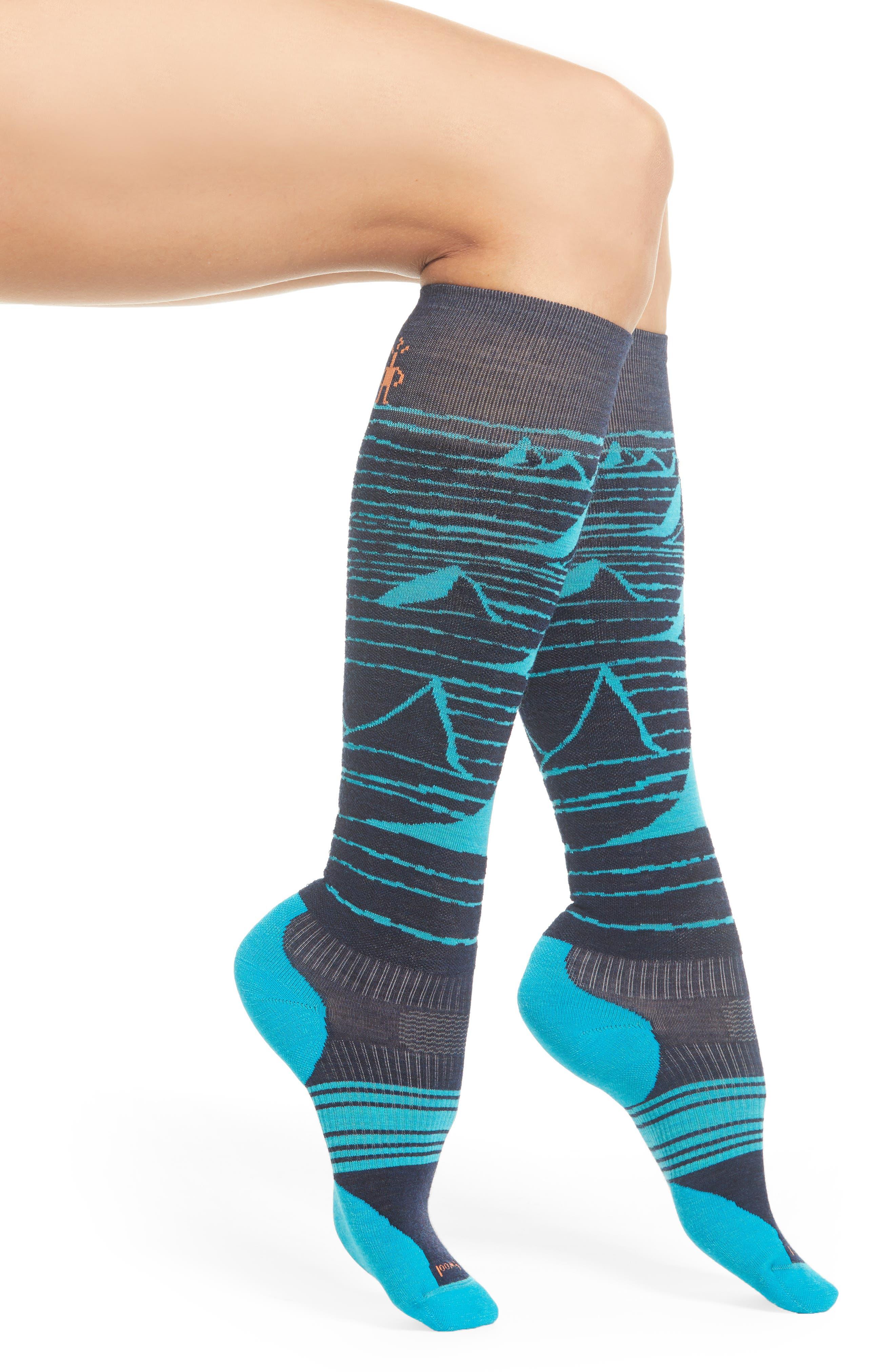 PhD<sup>®</sup> Slopestyle Light Elite Ski Socks,                             Main thumbnail 1, color,                             DEEP NAVY