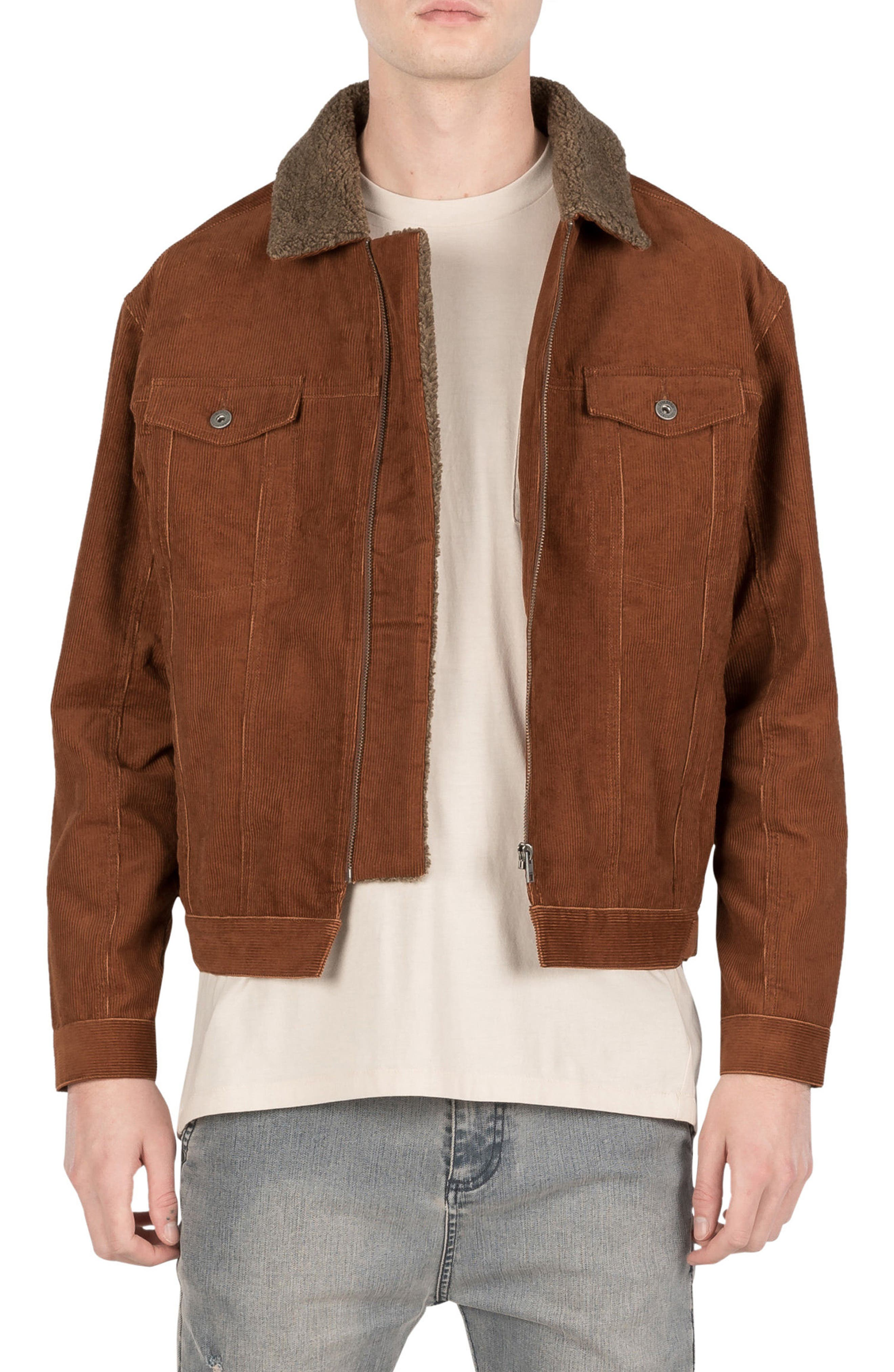 Snitch Corduroy Jacket,                             Main thumbnail 1, color,                             DARK BRONZE