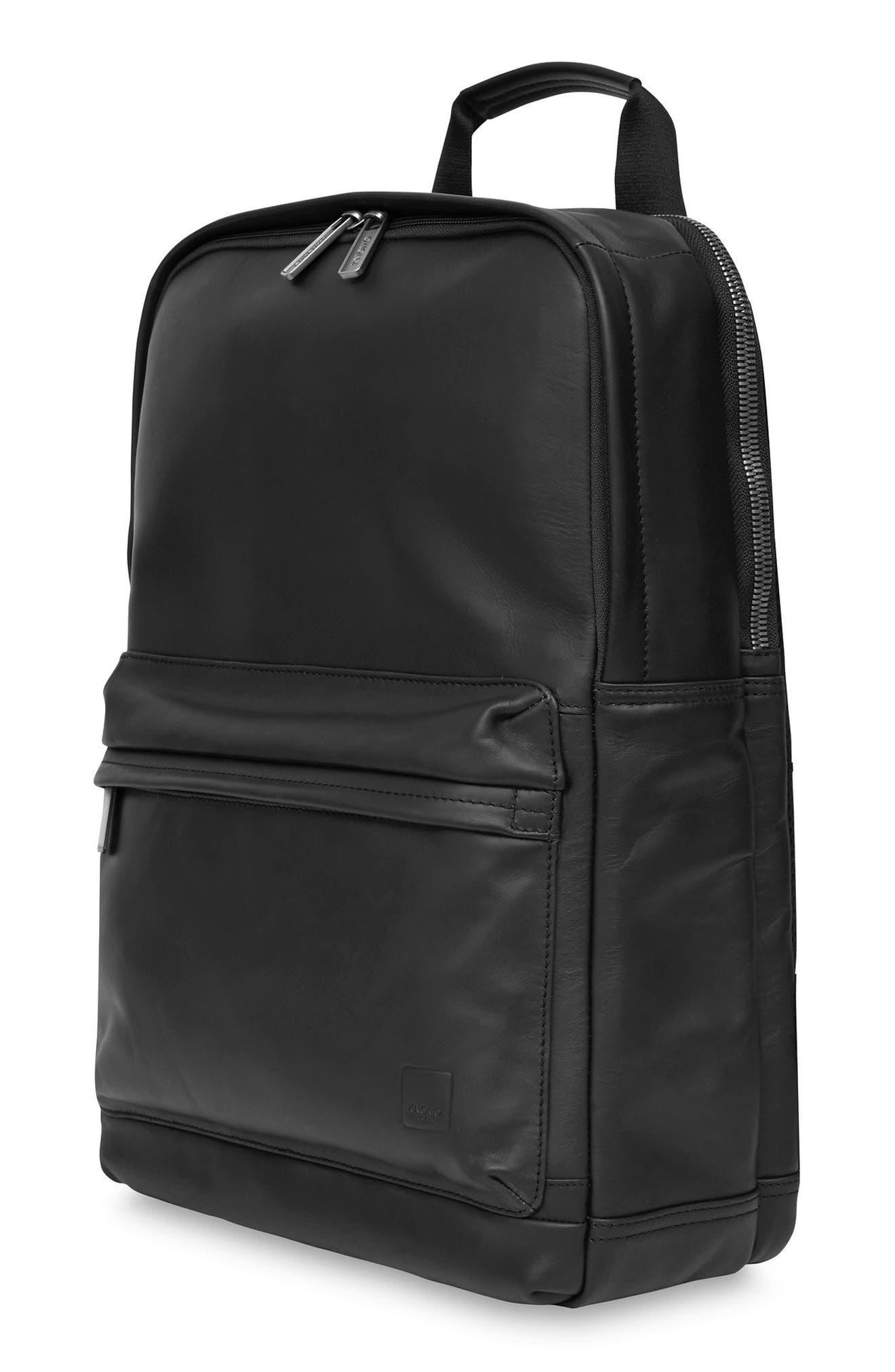 Knomo Barbican Brackley Leather Backpack,                             Alternate thumbnail 6, color,                             BLACK