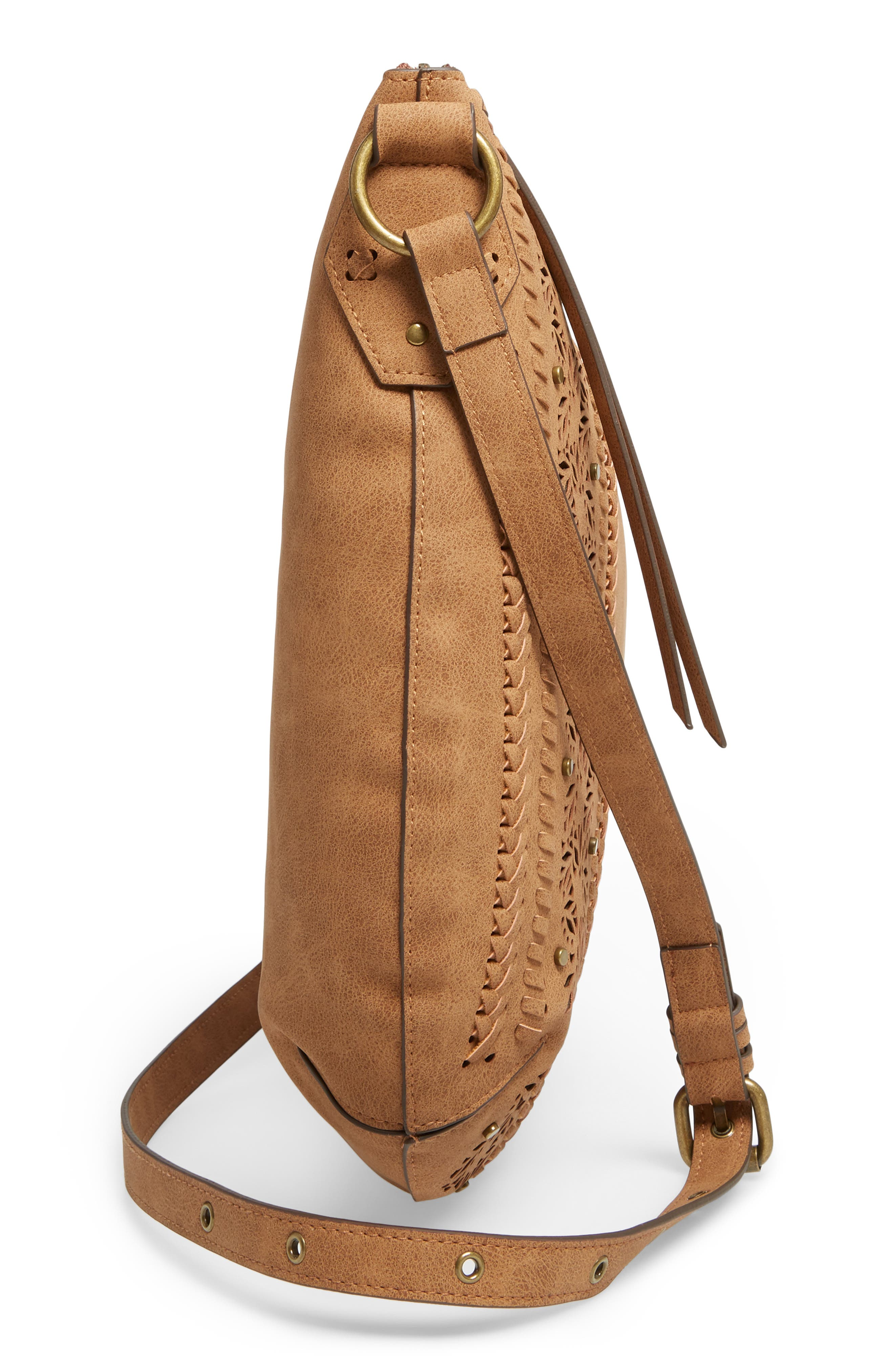 Palomina Faux Leather Crossbody Hobo,                             Alternate thumbnail 14, color,