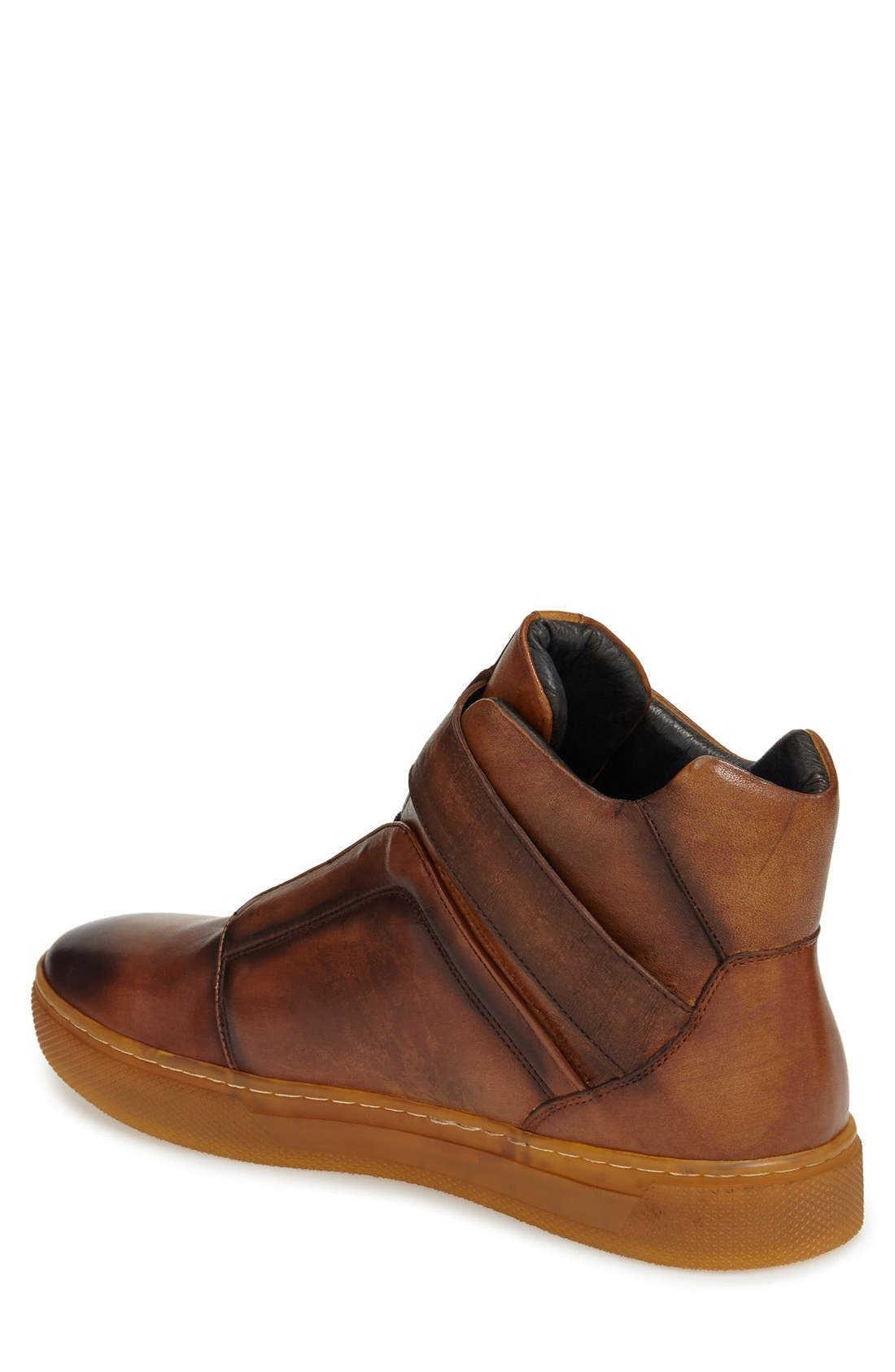 Scully High Top Sneaker,                             Alternate thumbnail 2, color,                             TAN LEATHER