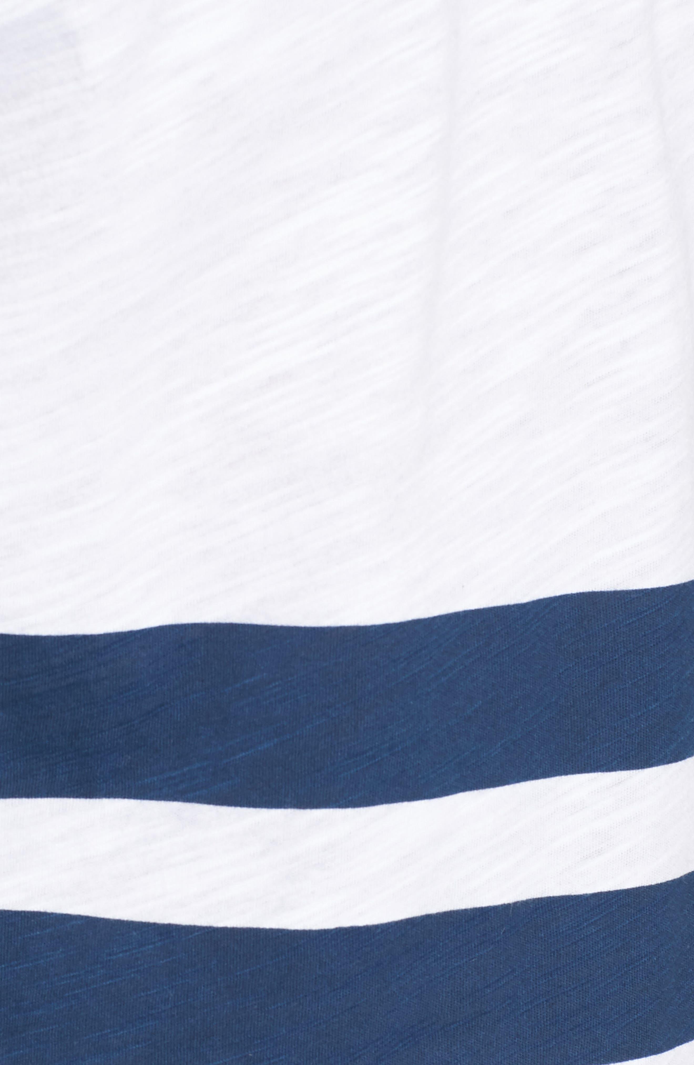 Slub Stripe Ringer T-Shirt,                             Alternate thumbnail 5, color,                             420