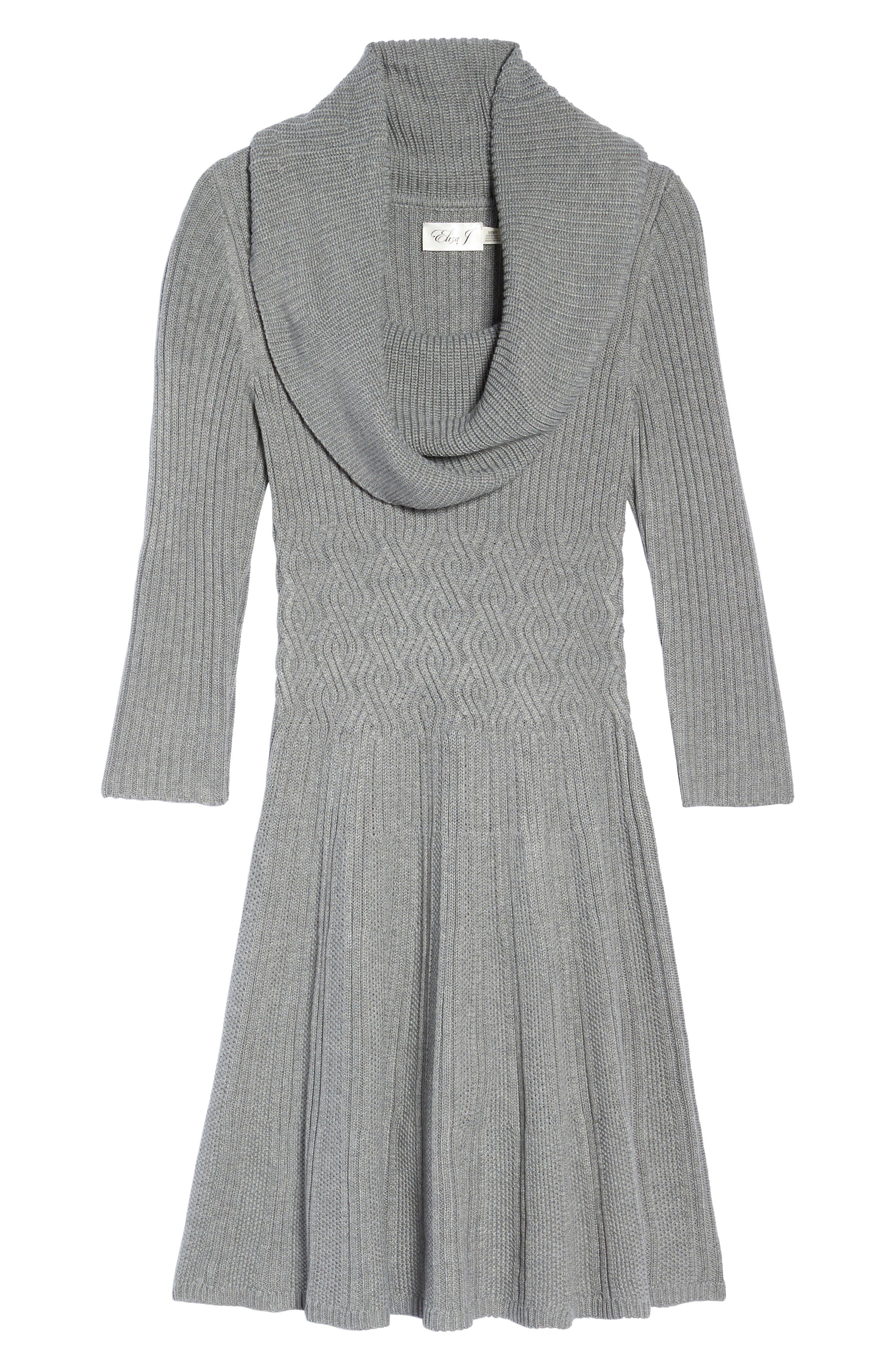 Cowl Neck Sweater Dress,                             Alternate thumbnail 6, color,                             030