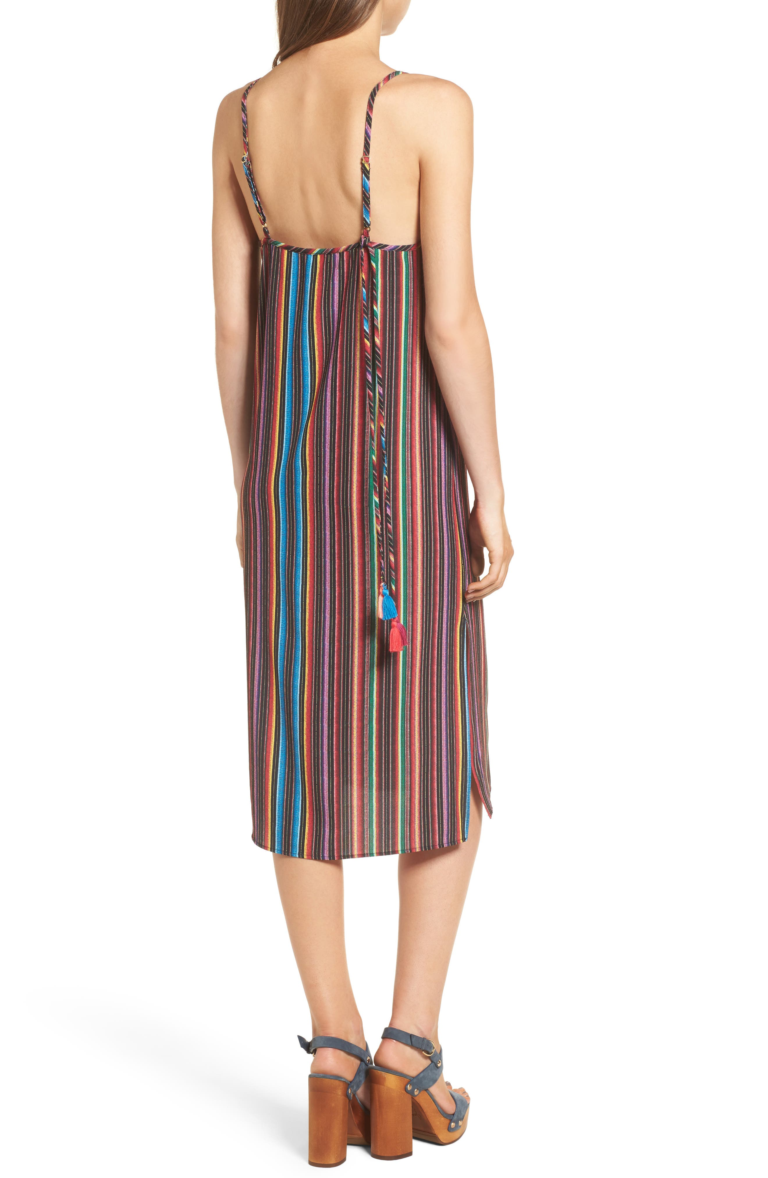 Shiloh Tassel Slipdress,                             Alternate thumbnail 2, color,