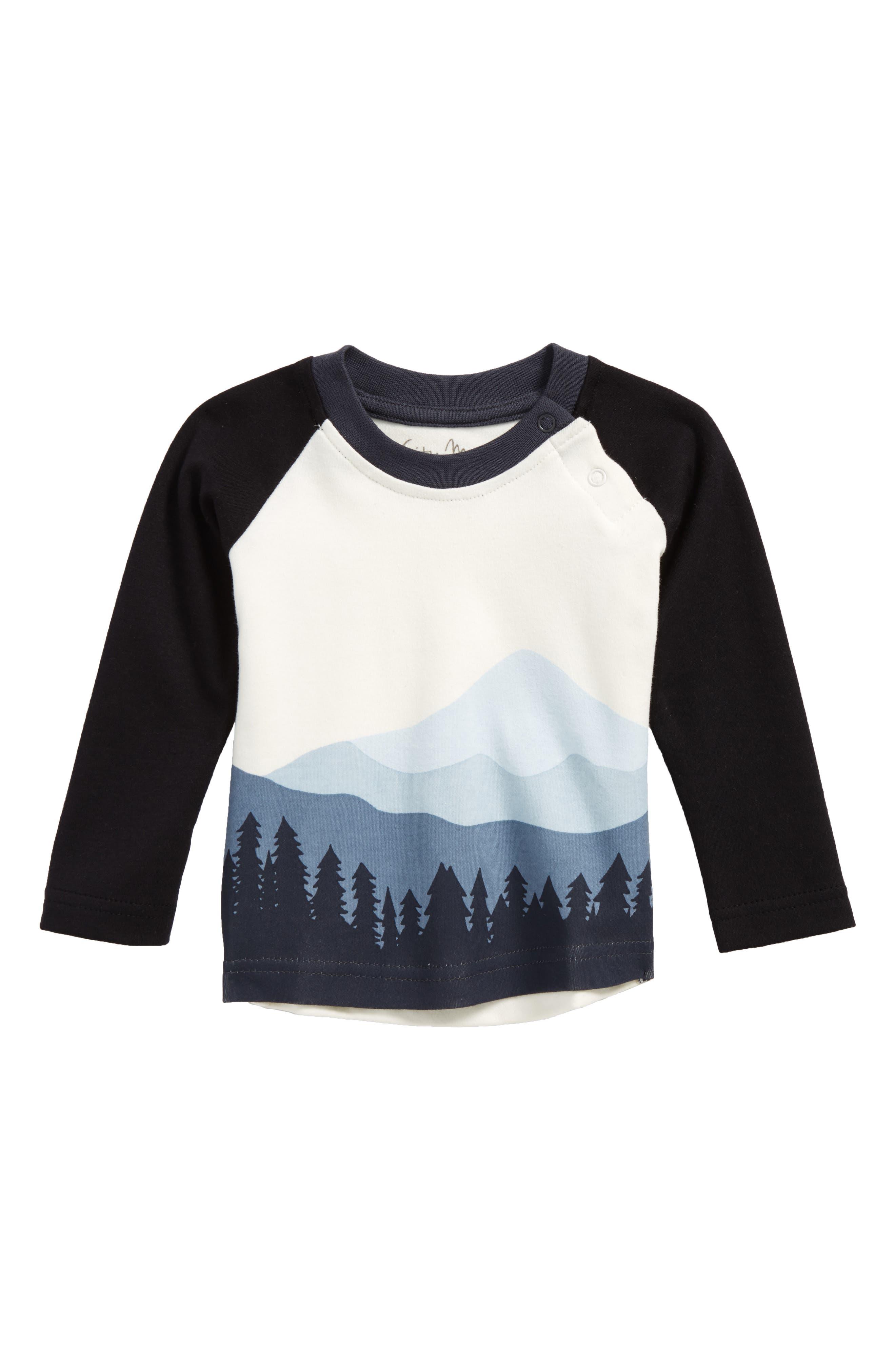 Mountain Graphic Organic Cotton T-Shirt,                             Main thumbnail 1, color,