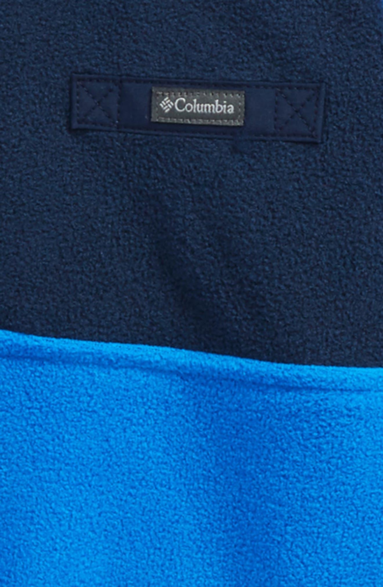 Mountain Side Quarter Zip Pullover Fleece Hoodie,                             Alternate thumbnail 3, color,