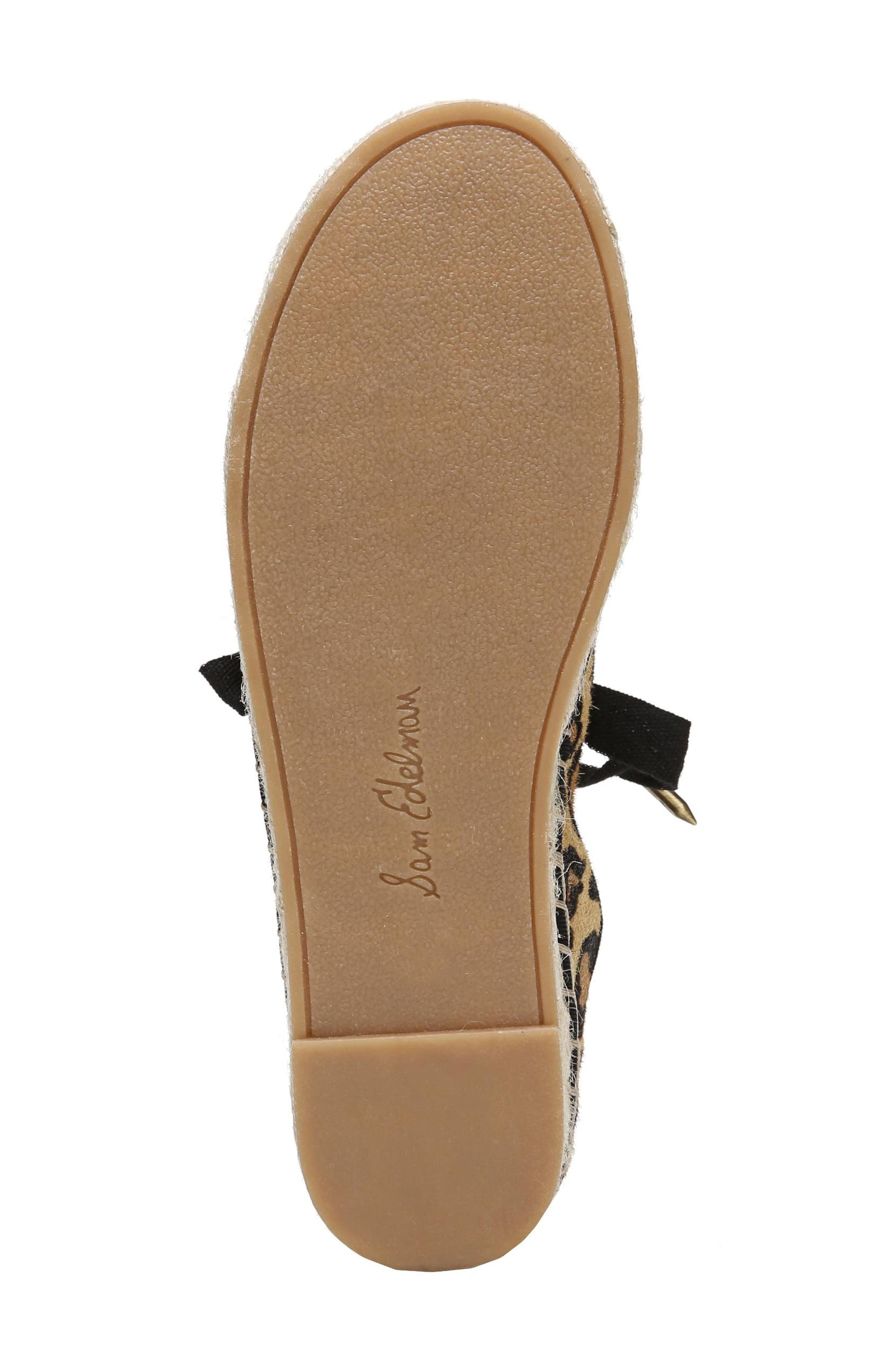 Celina Genuine Calf Hair Espadrille Flat,                             Alternate thumbnail 6, color,                             200