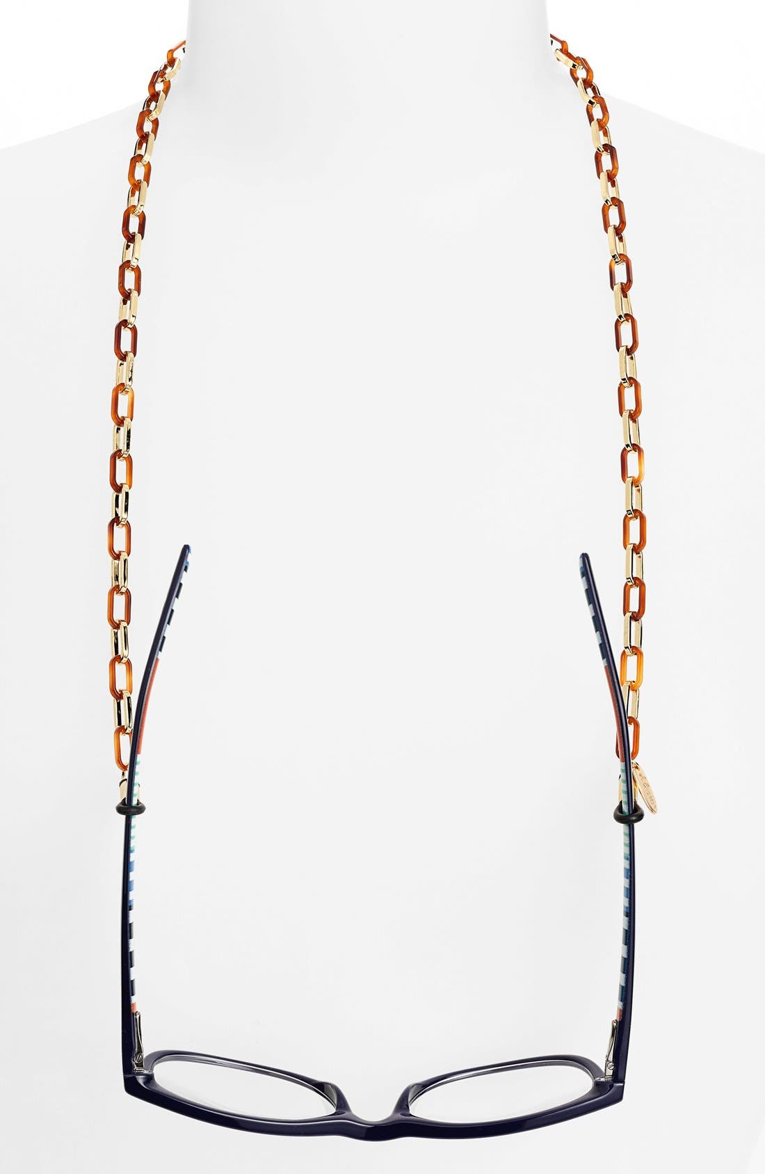 'Magdelan' Mini Metal Link Eyewear Chain,                         Main,                         color, TORTOISE/ GOLD