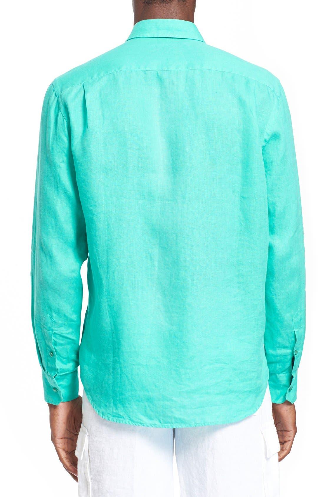 'Caroubier' Linen Shirt,                             Alternate thumbnail 51, color,