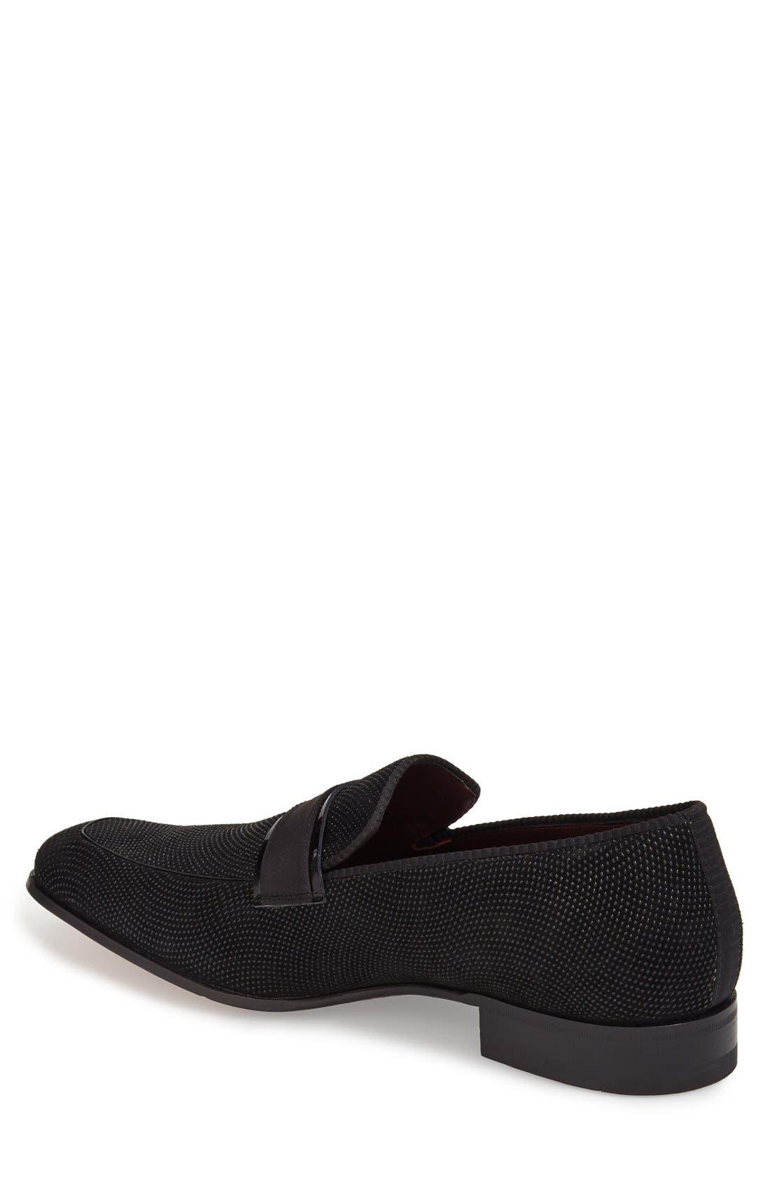 'Capizzi' Venetian Loafer,                             Alternate thumbnail 3, color,                             BLACK