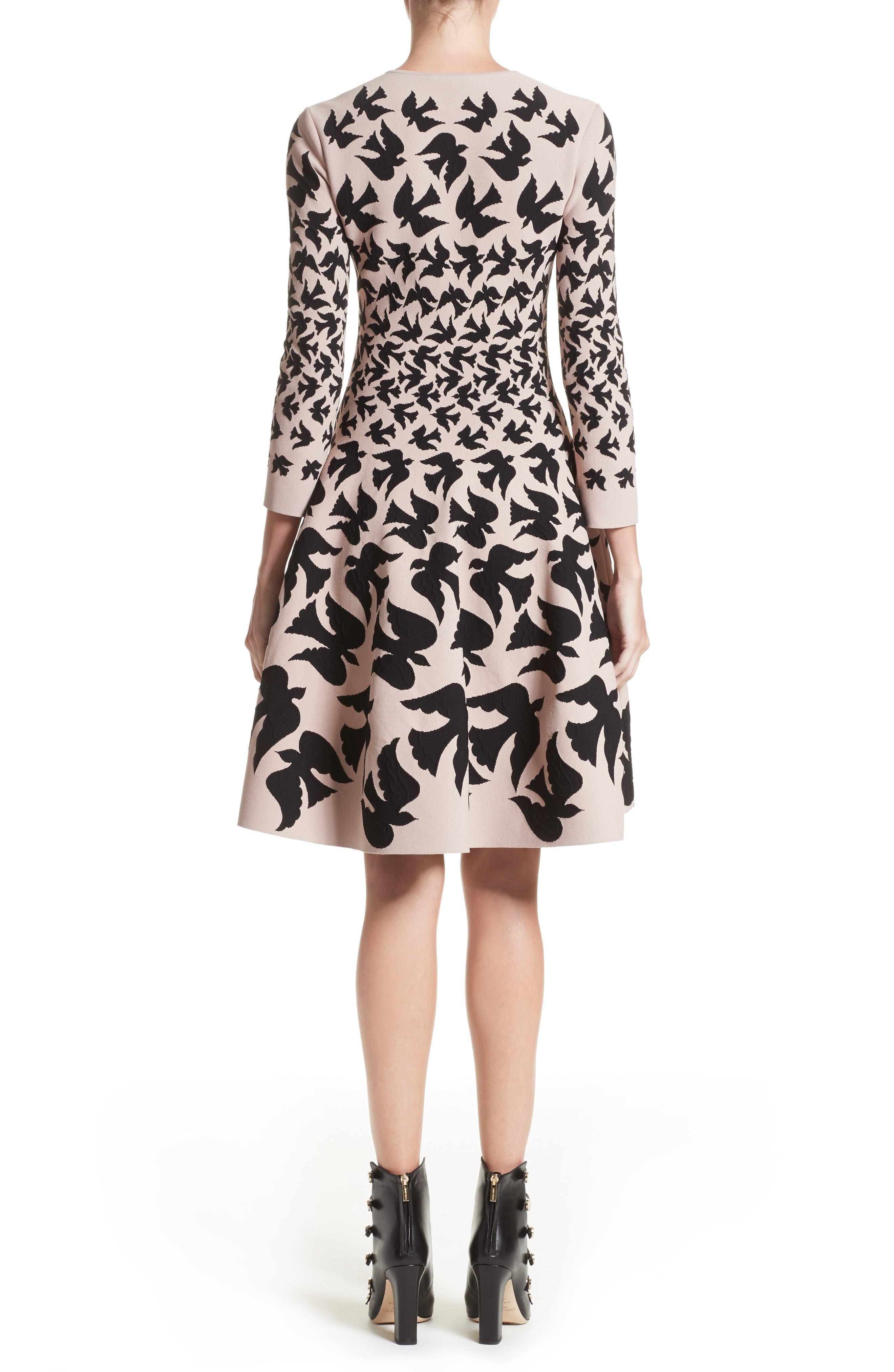 Swallow Jacquard Dress,                             Alternate thumbnail 2, color,                             655