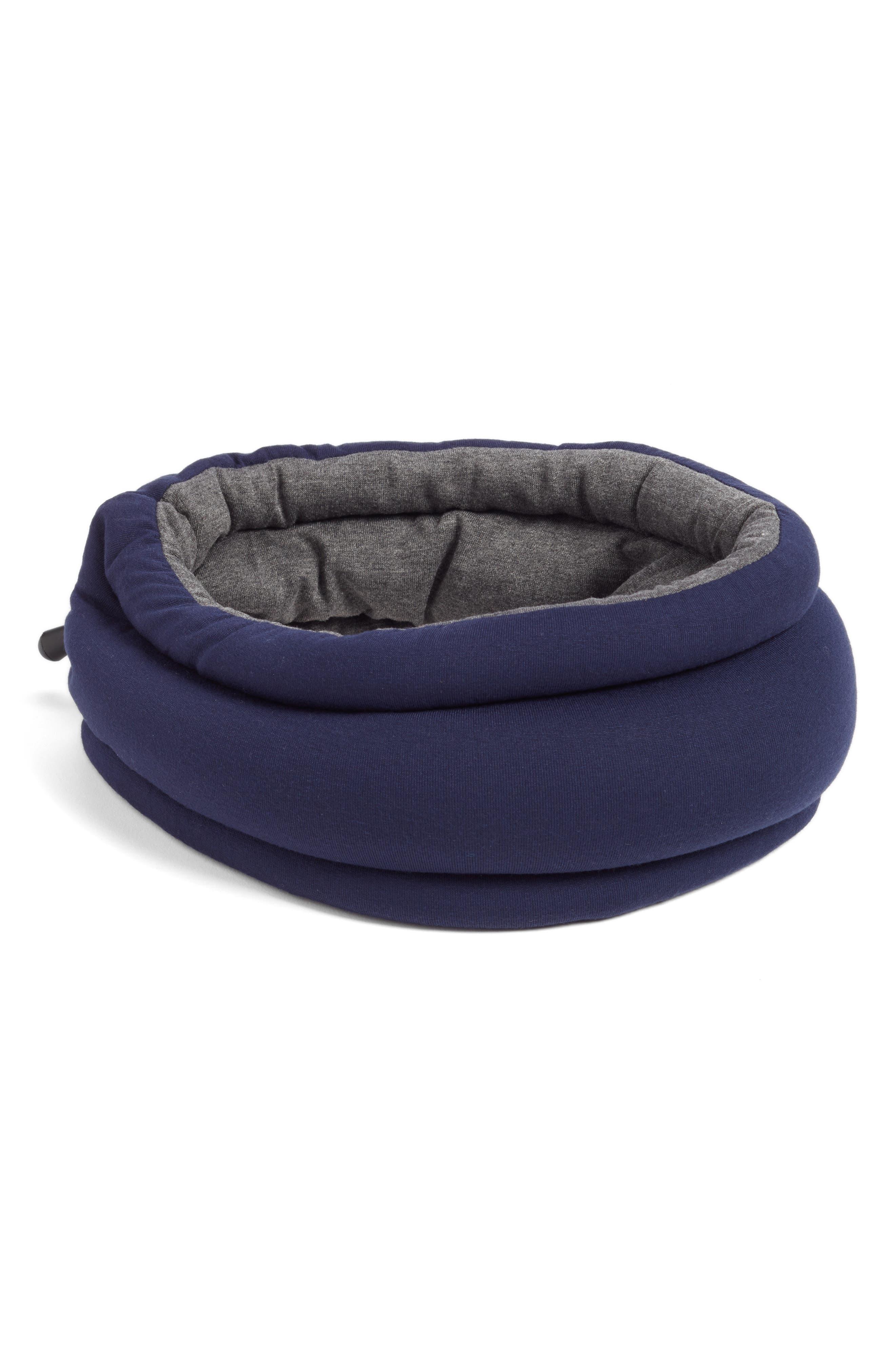 OSTRICHPILLOW<sup>®</sup> Light Reversible Travel Pillow,                         Main,                         color, MOONLIGHT BLUE