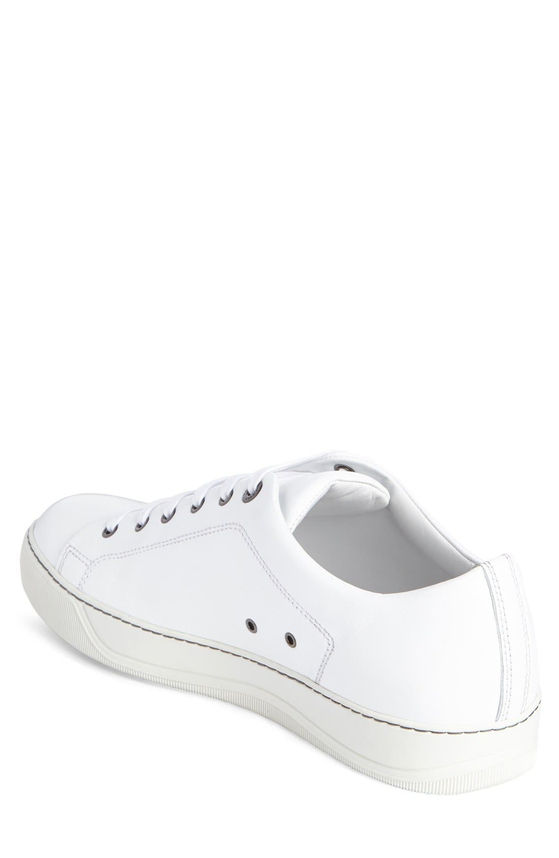 Low Top Cap Toe Sneaker,                             Alternate thumbnail 2, color,                             101