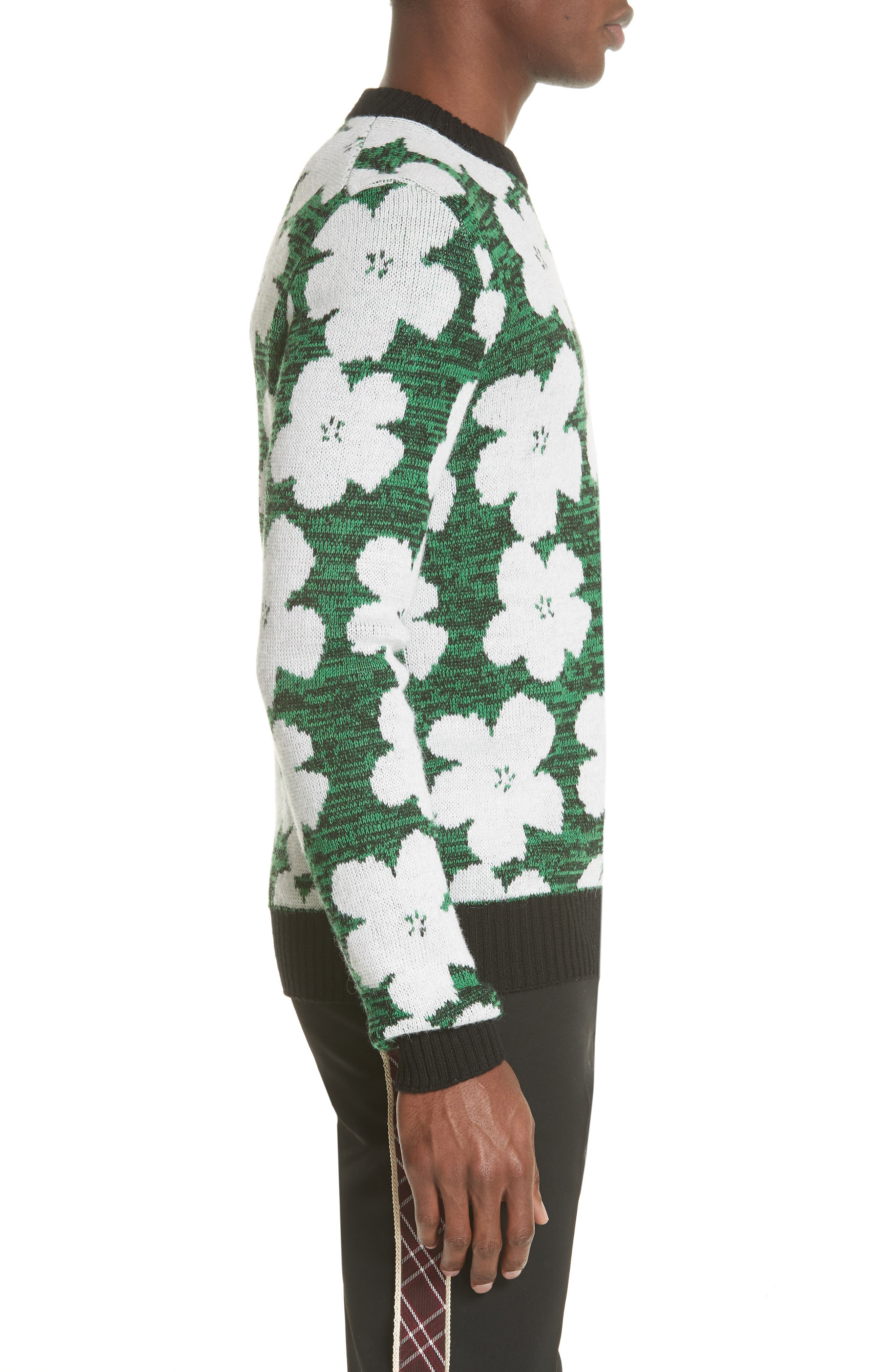 Andy Warhol Flower Sweater,                             Alternate thumbnail 3, color,                             320