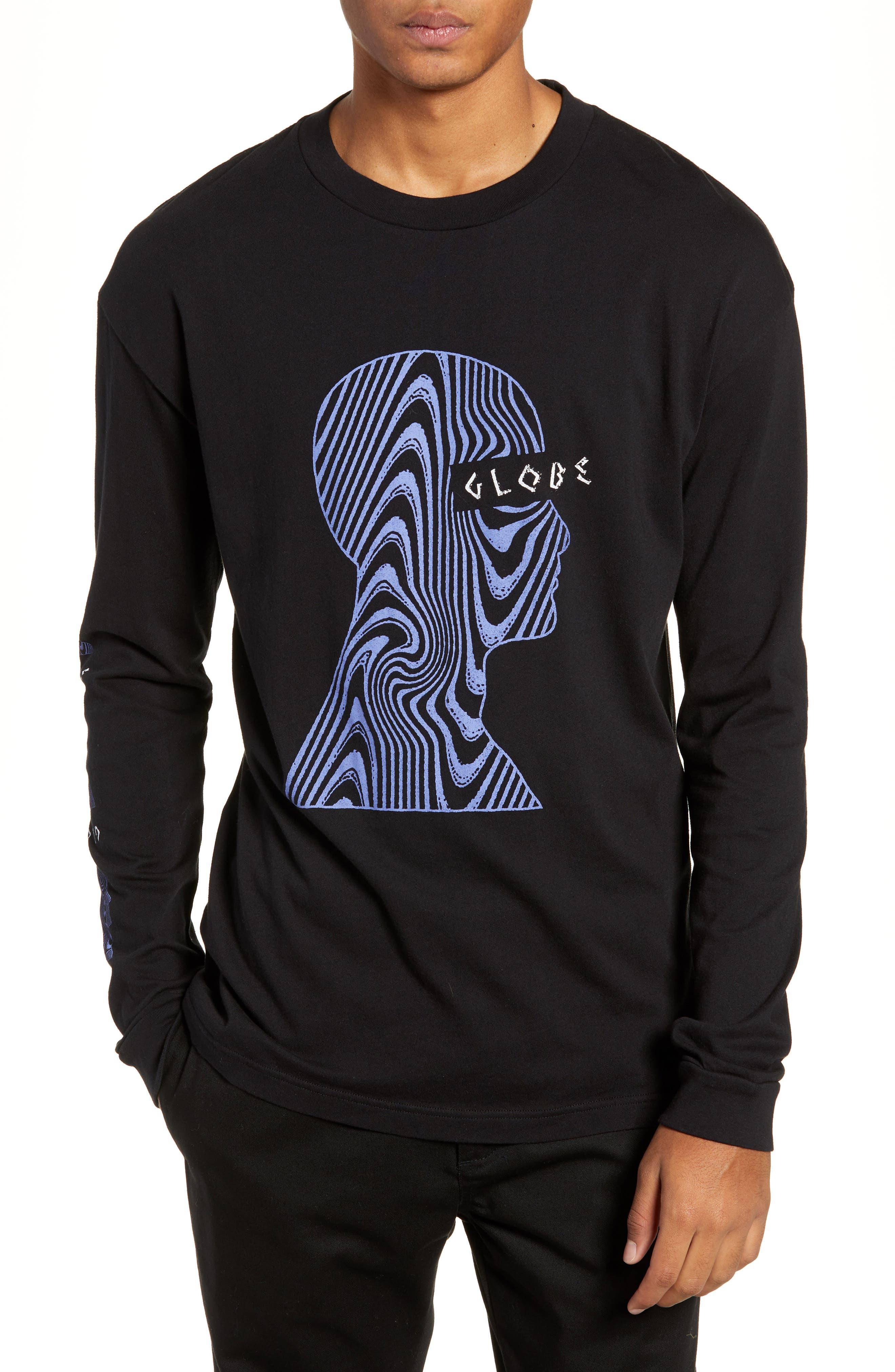 Oracle Long Sleeve T-Shirt,                         Main,                         color, BLACK