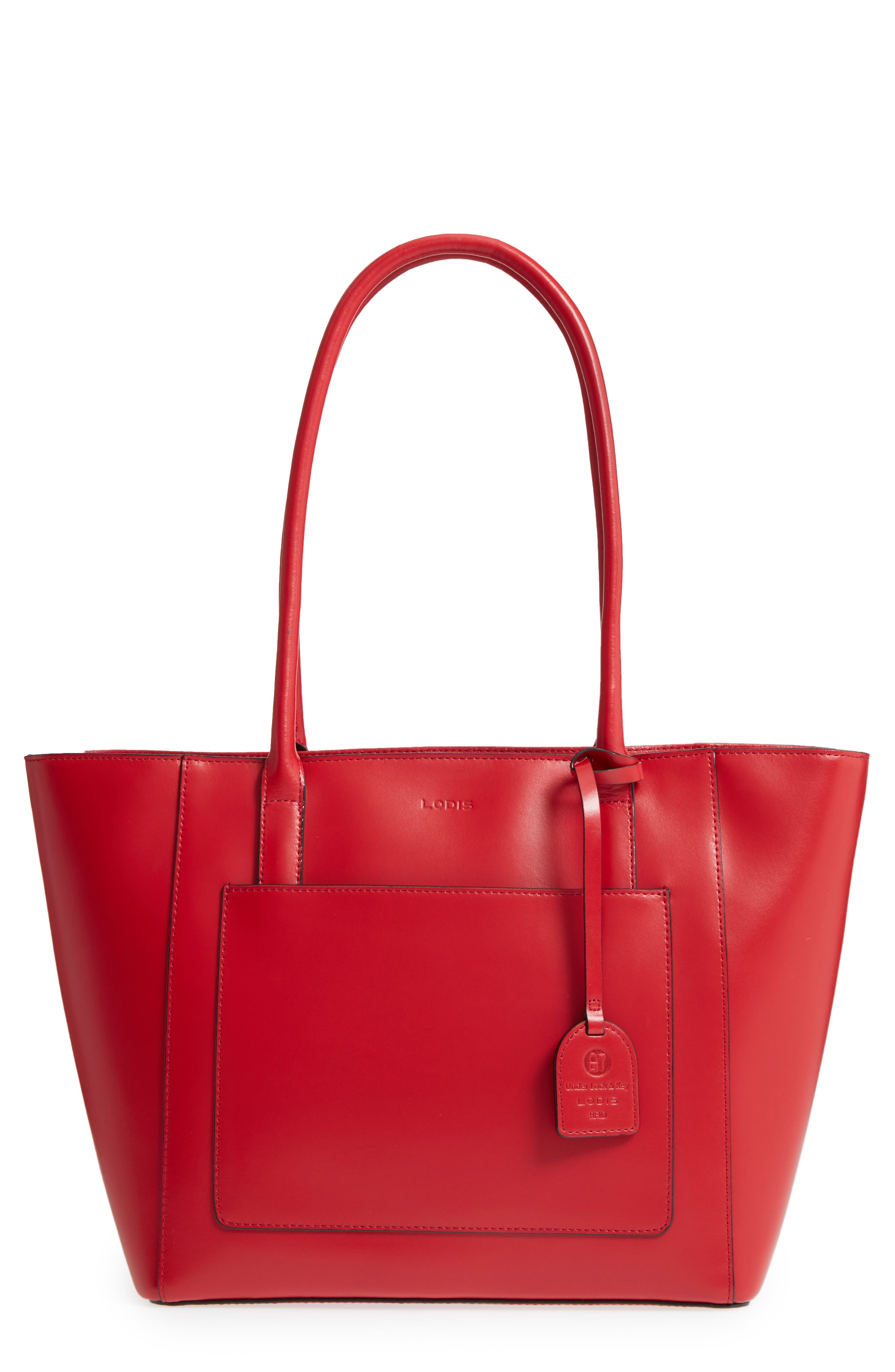 Audrey Under Lock & Key - Medium Margaret RFID Leather Tote with Zip Pouch,                             Main thumbnail 4, color,