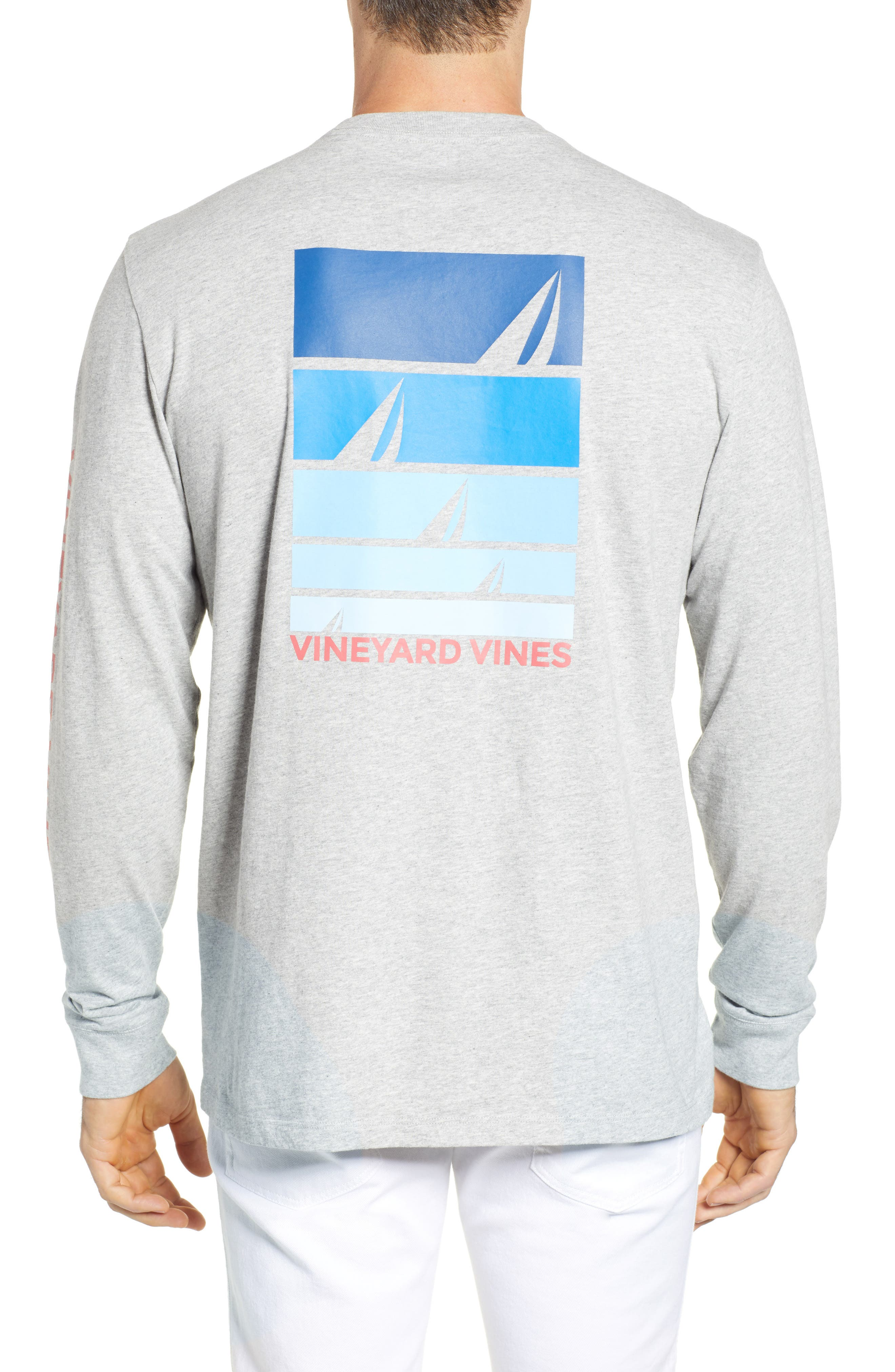 VINEYARD VINES,                             Sailing Blue Regular Fit Crewneck T-Shirt,                             Alternate thumbnail 2, color,                             039