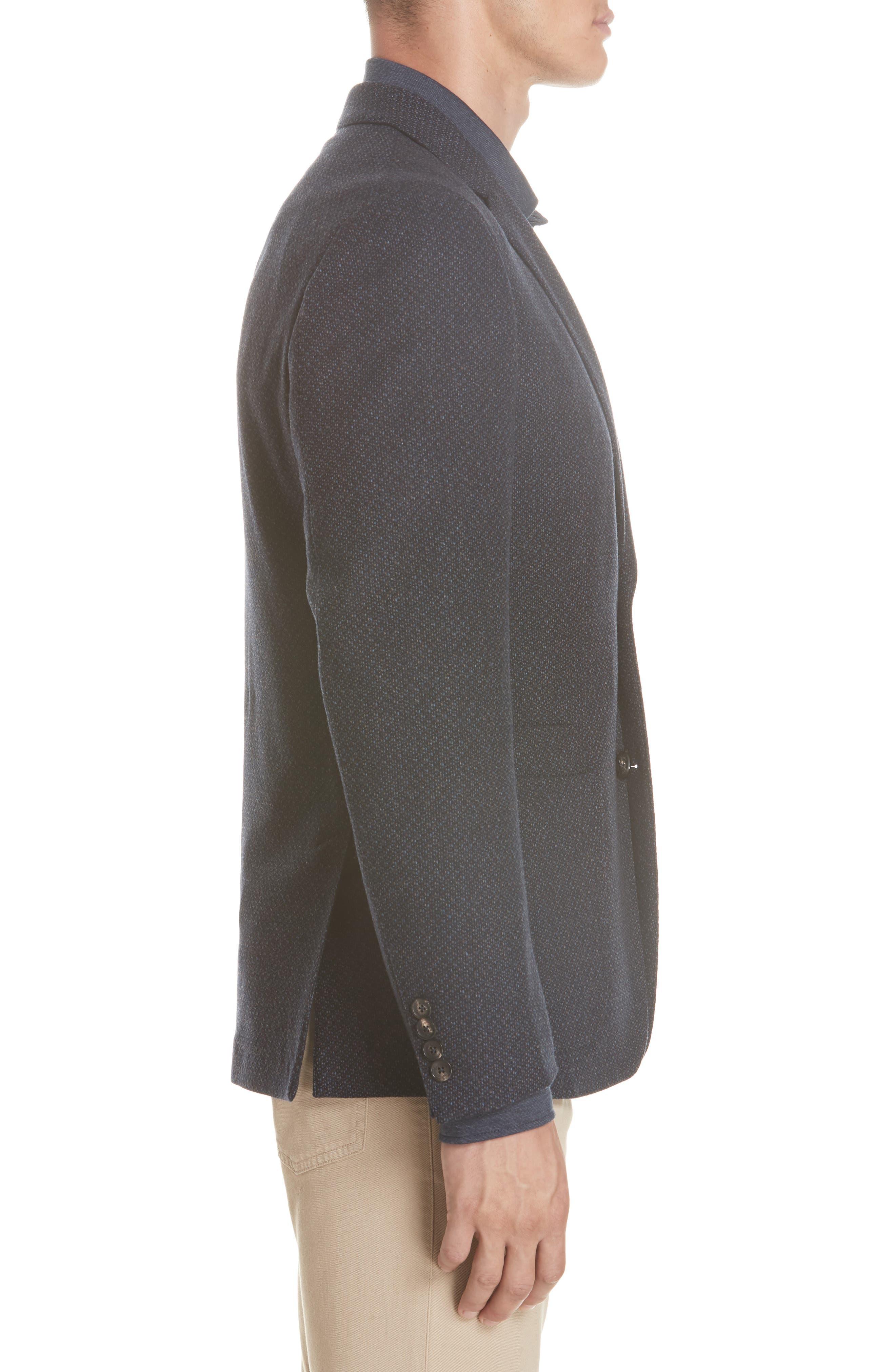 Trim Fit Wool & Cashmere Sport Coat,                             Alternate thumbnail 3, color,                             416