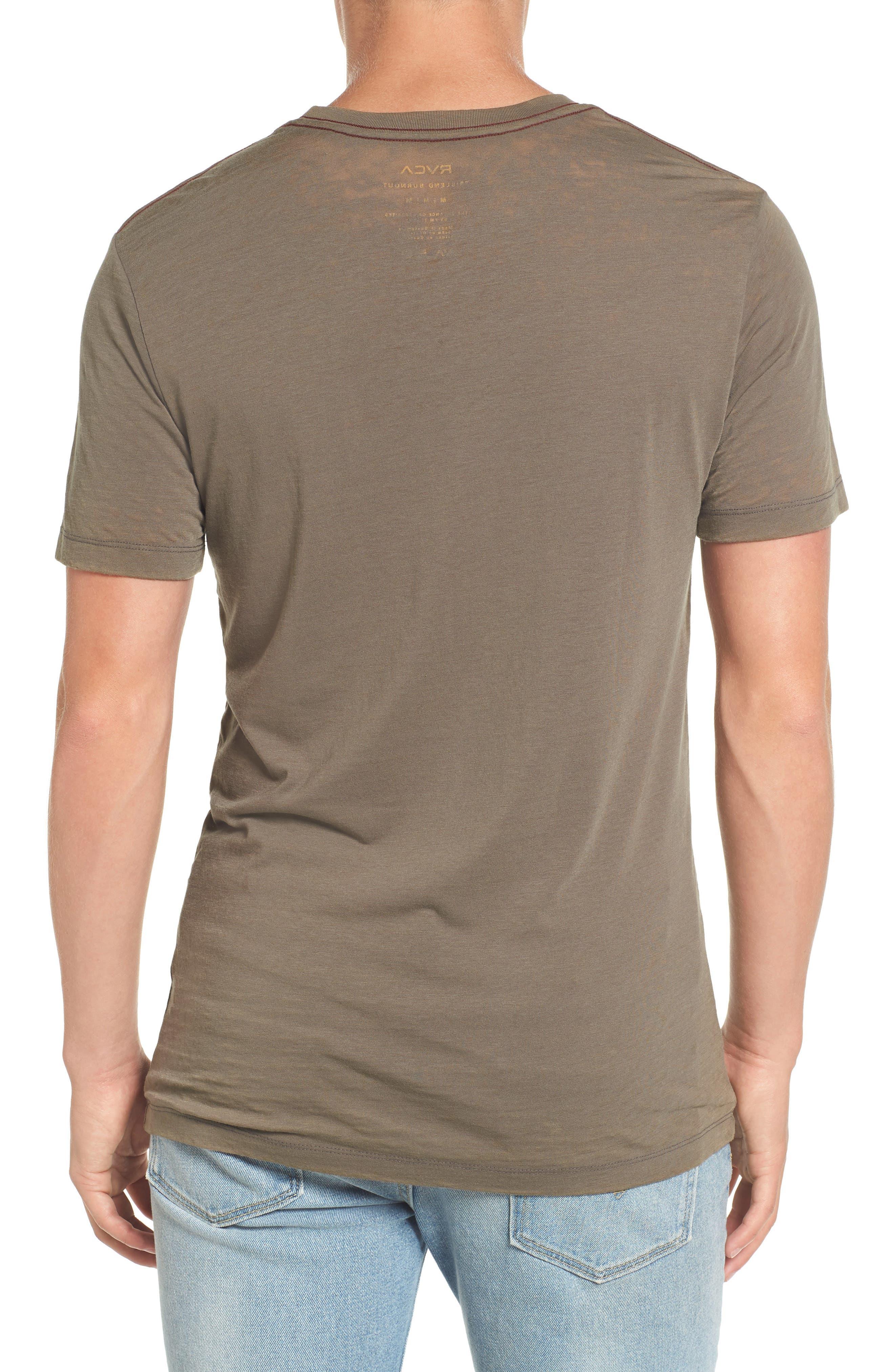 Flipped Perimeter Burnout T-Shirt,                             Alternate thumbnail 5, color,