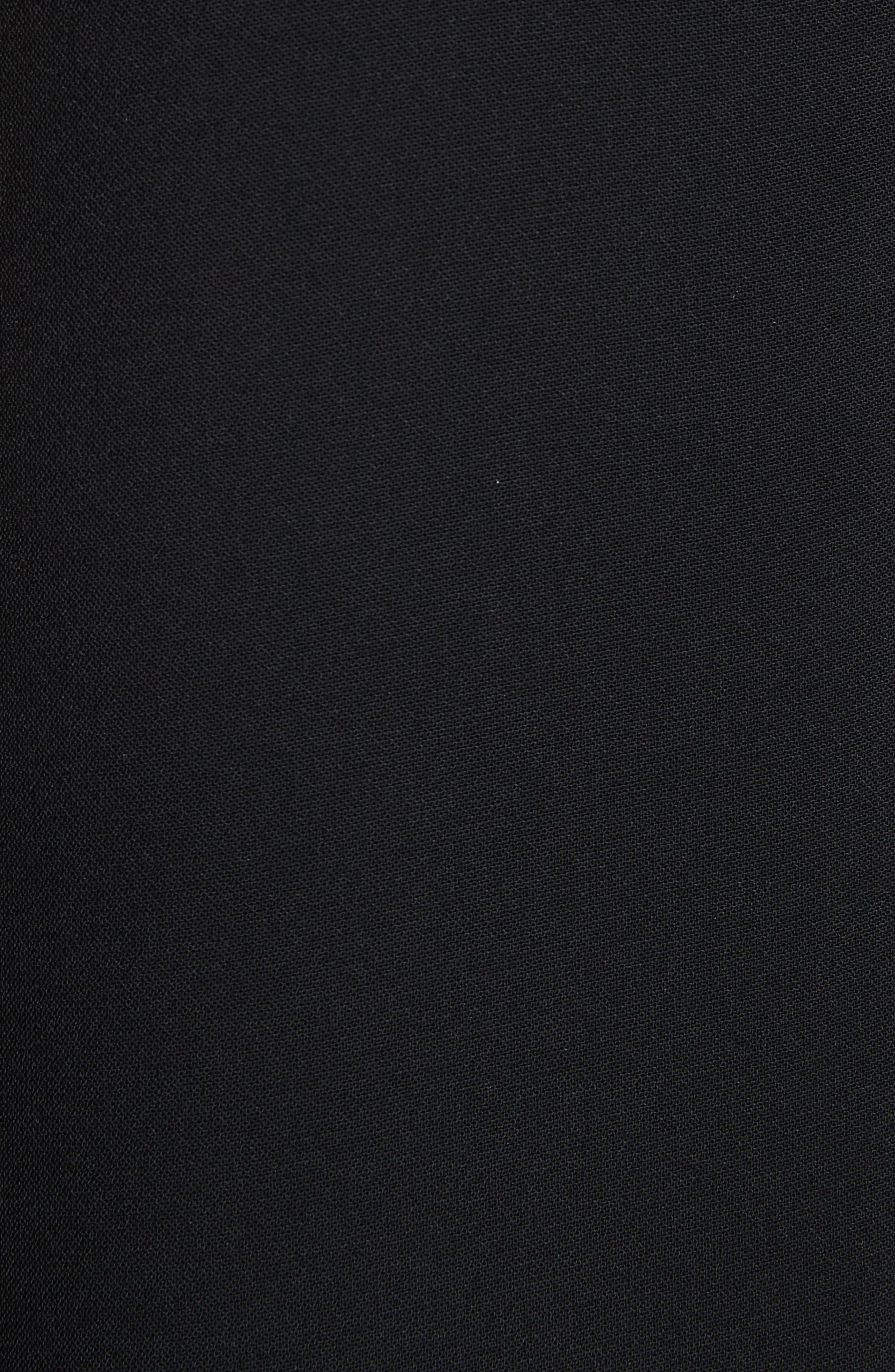 Torrii High Neck Tunic Dress,                             Alternate thumbnail 5, color,                             BLACK