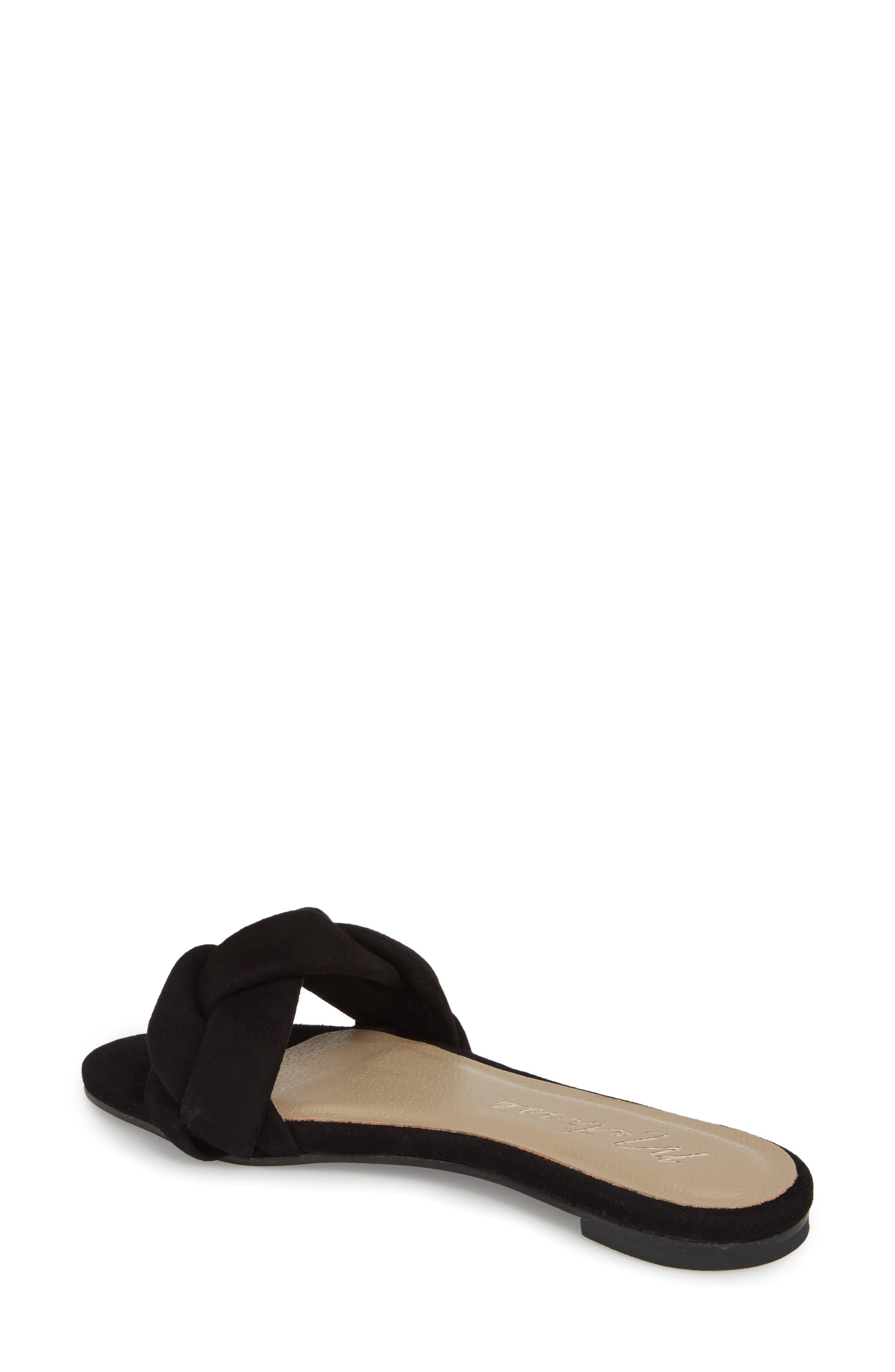 Georgie Slide Sandal,                             Alternate thumbnail 2, color,                             BLACK SUEDE