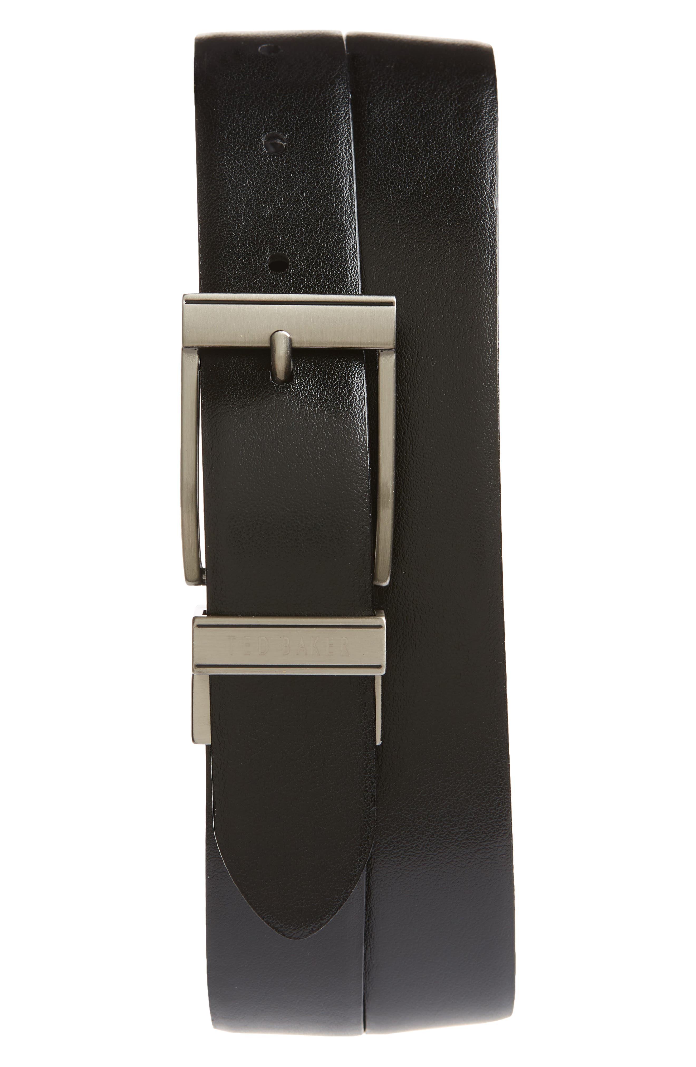 Tatti Reversible Leather Belt,                             Alternate thumbnail 2, color,                             BLACK