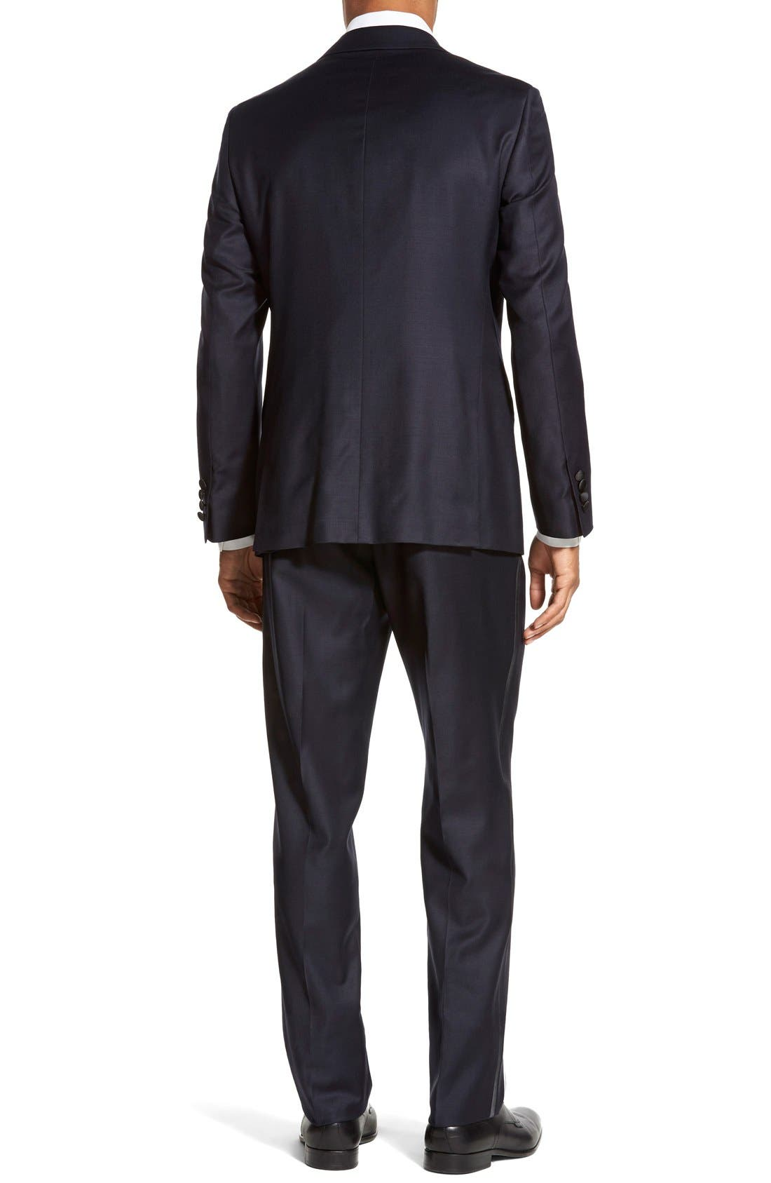 'Aston' Trim Fit Solid Wool Tuxedo,                             Alternate thumbnail 2, color,                             410