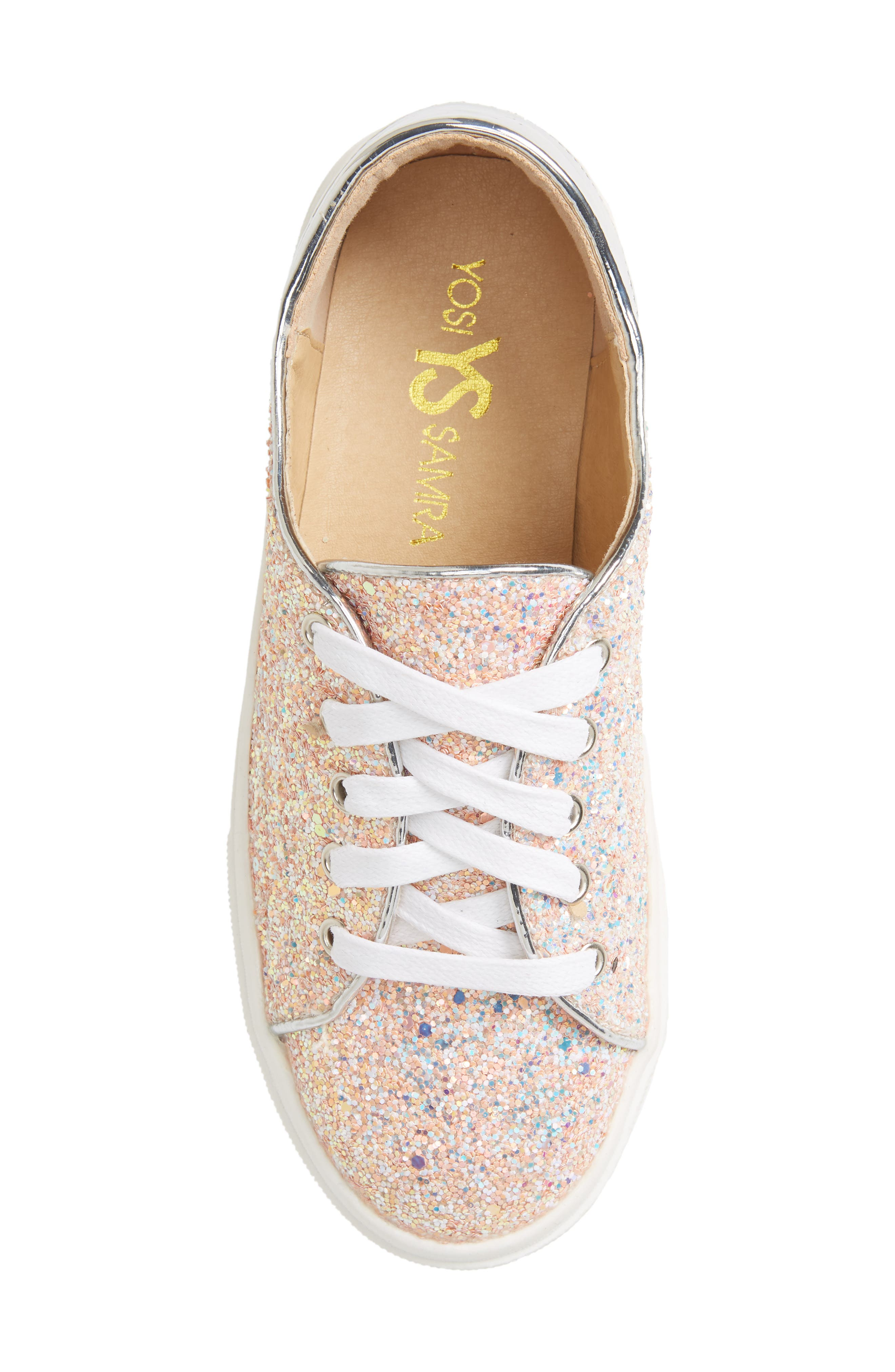 YOSI SAMRA,                             Miss Bowery Glitter Sneaker,                             Alternate thumbnail 5, color,                             182