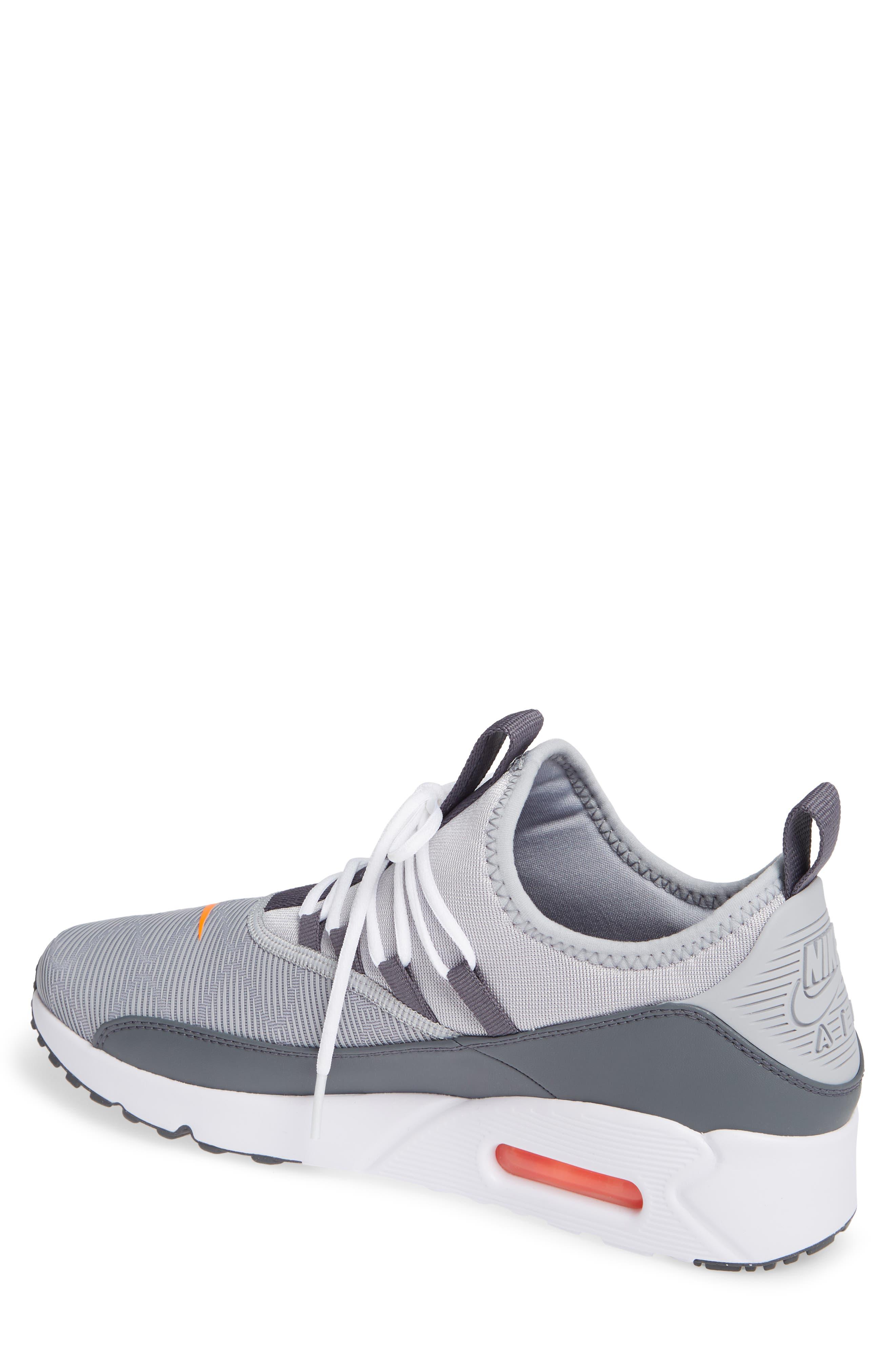 Air Max 90 EZ Sneaker,                             Alternate thumbnail 2, color,                             WOLF GREY/ TOTAL ORANGE/ WHITE