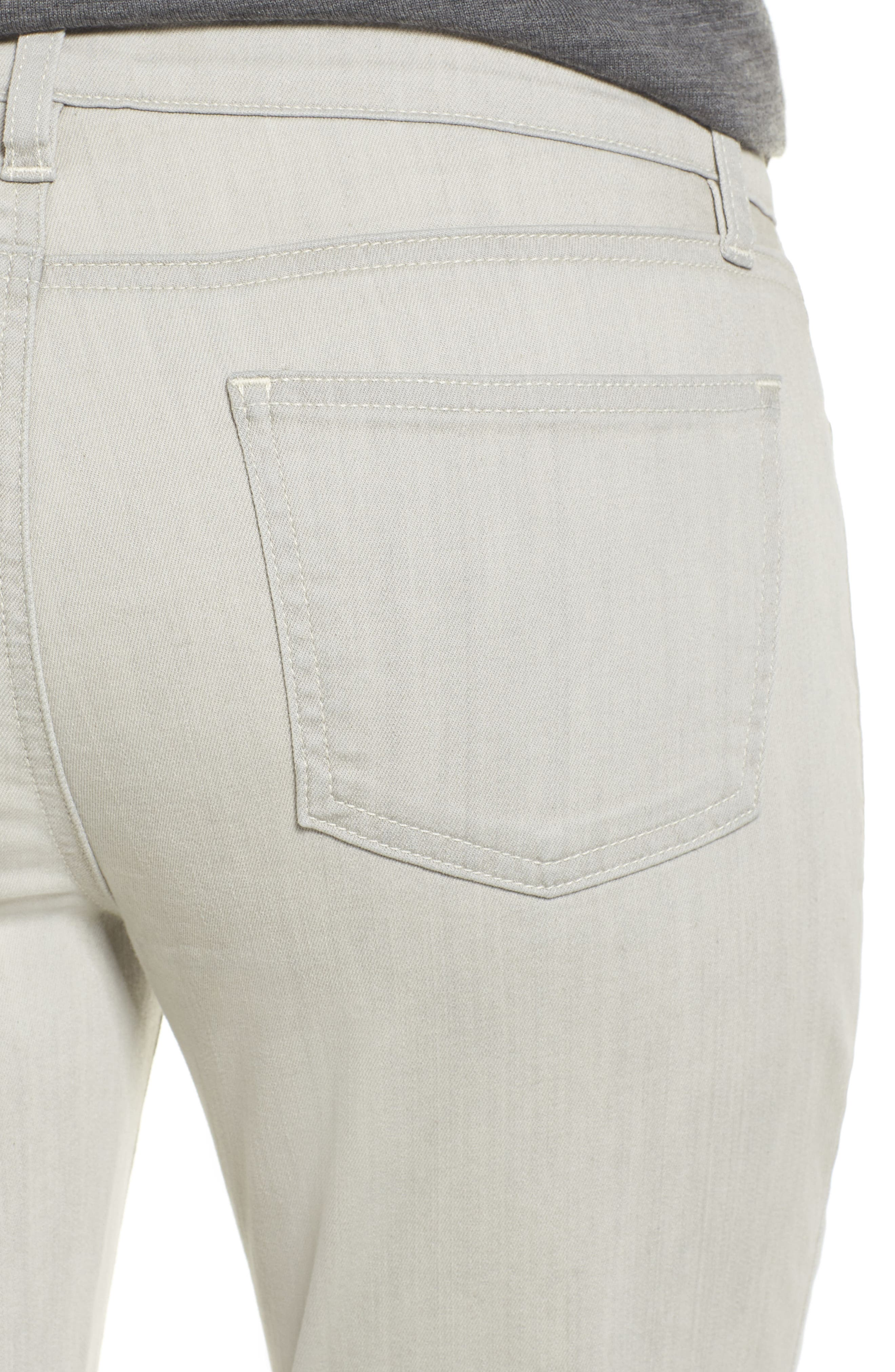 Slim Stretch Ankle Jeans,                             Alternate thumbnail 4, color,                             CEMENT