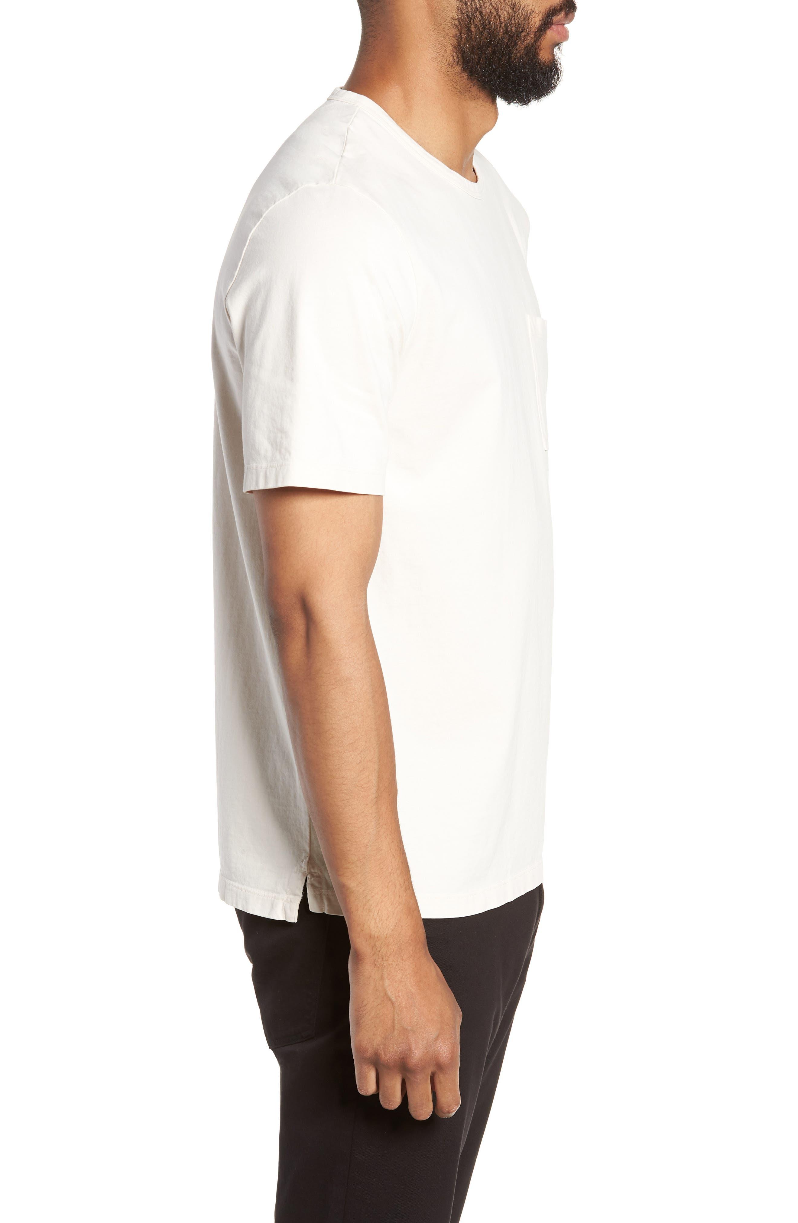Regular Fit Garment Dye Pocket T-Shirt,                             Alternate thumbnail 3, color,                             SAIL