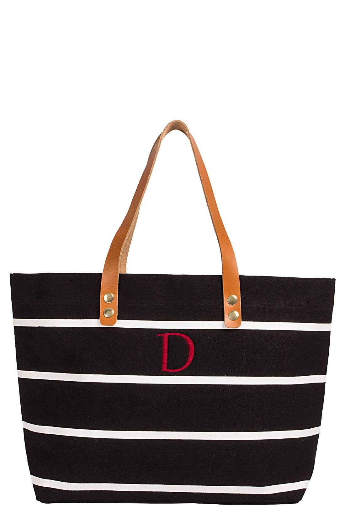 Monogram Stripe Tote,                             Main thumbnail 5, color,