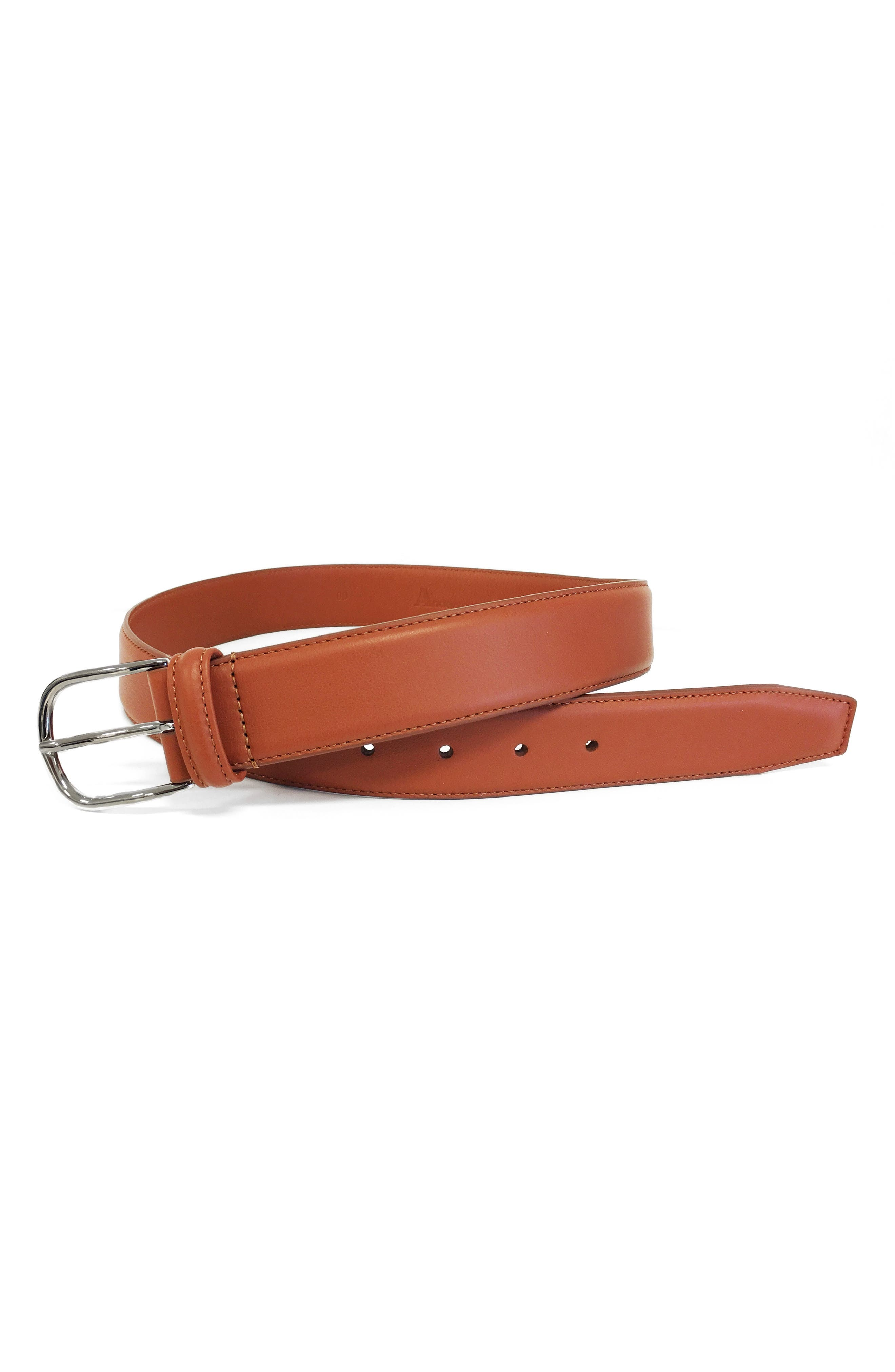 ANDERSONS Leather Belt in Light Brown