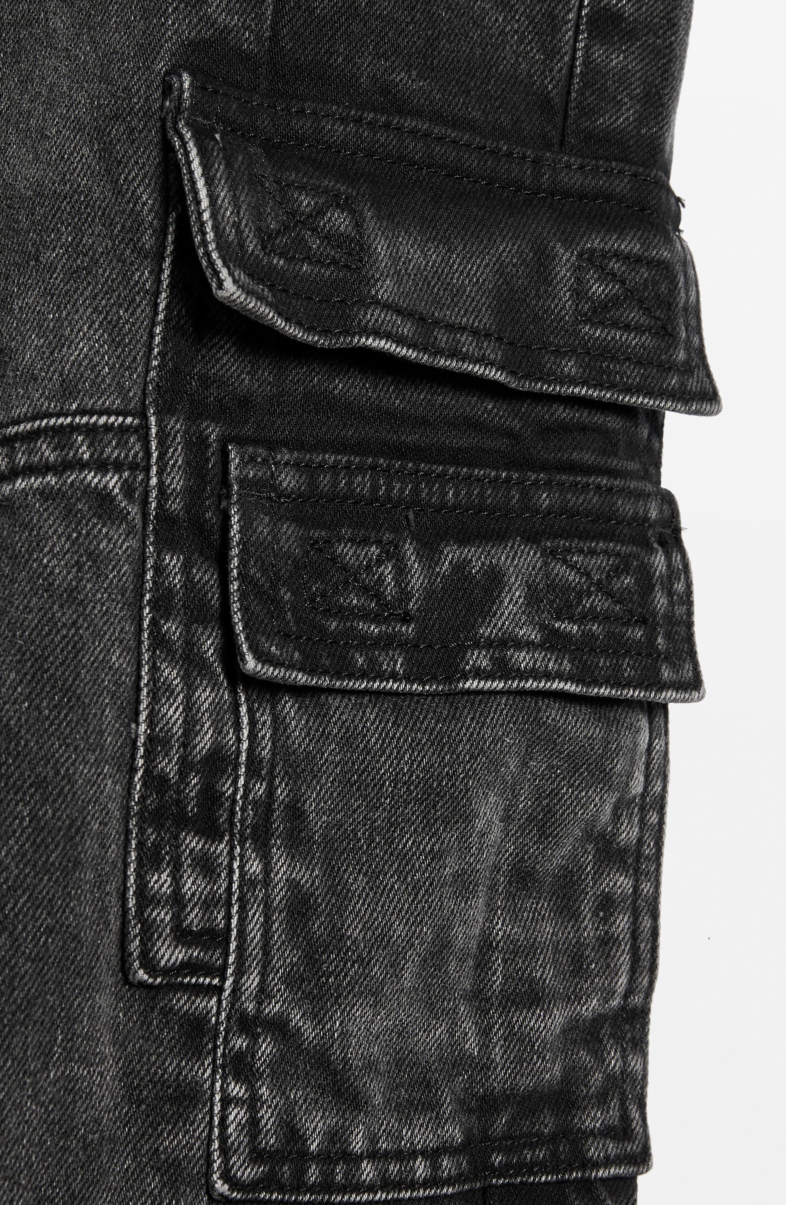 Washed Black Biker Jeans,                             Alternate thumbnail 2, color,                             003