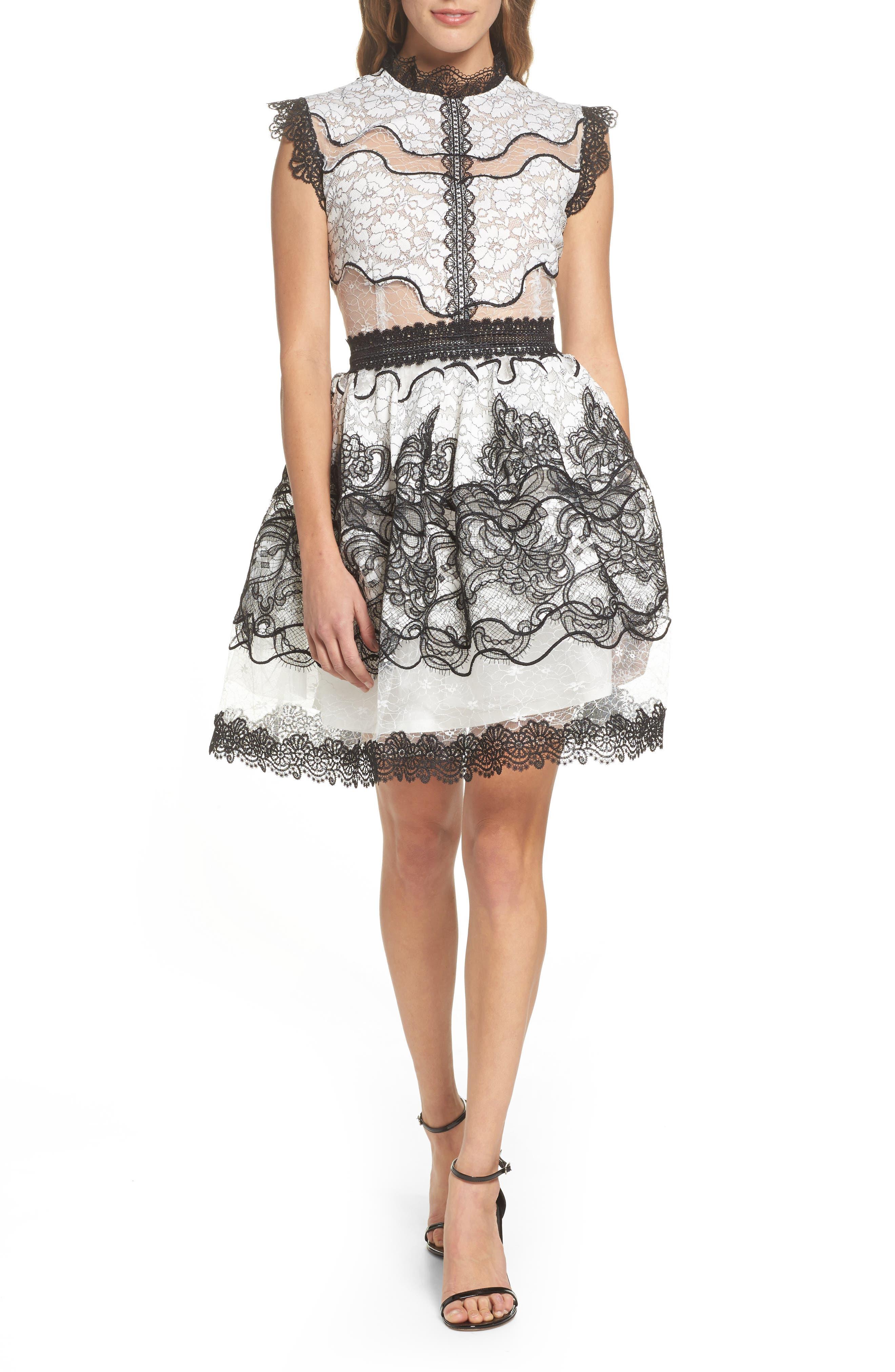 Orchid Cap Sleeve Lace Dress,                         Main,                         color, 001