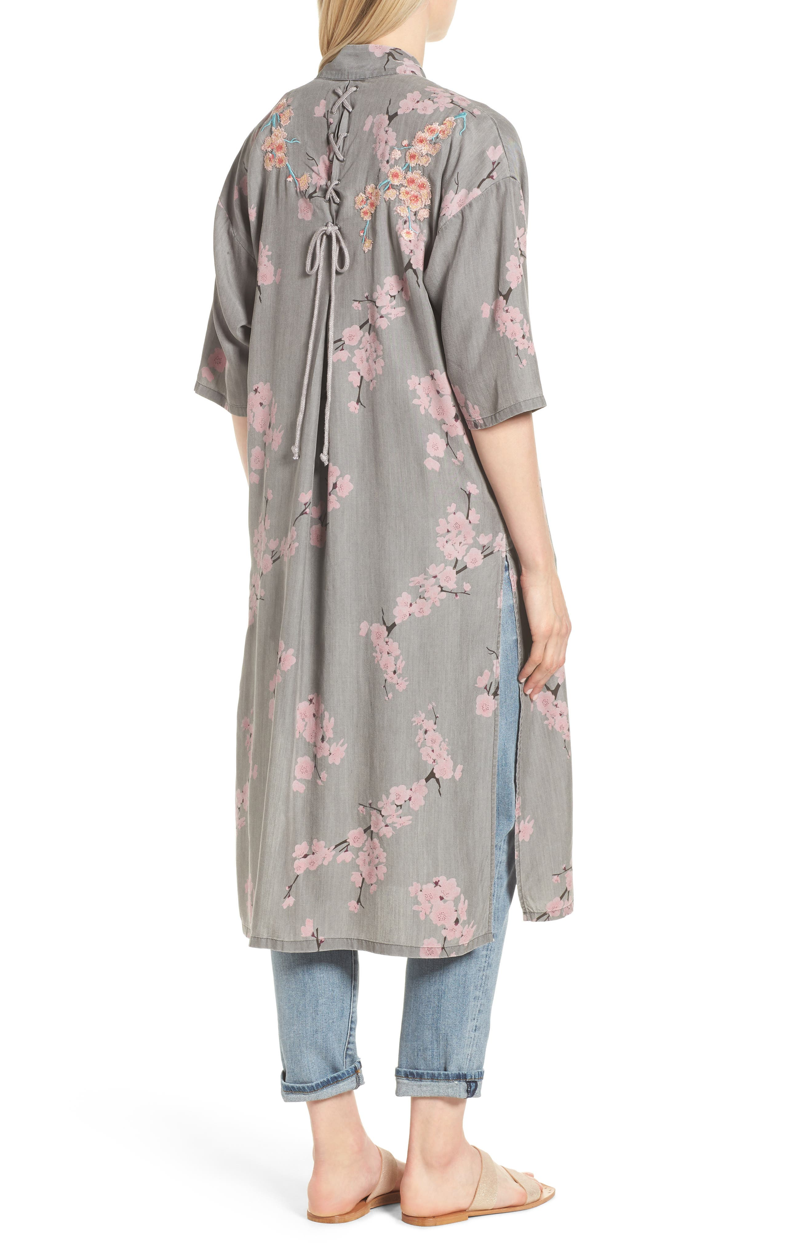 Cherry Blossom Kimono,                             Alternate thumbnail 2, color,                             020