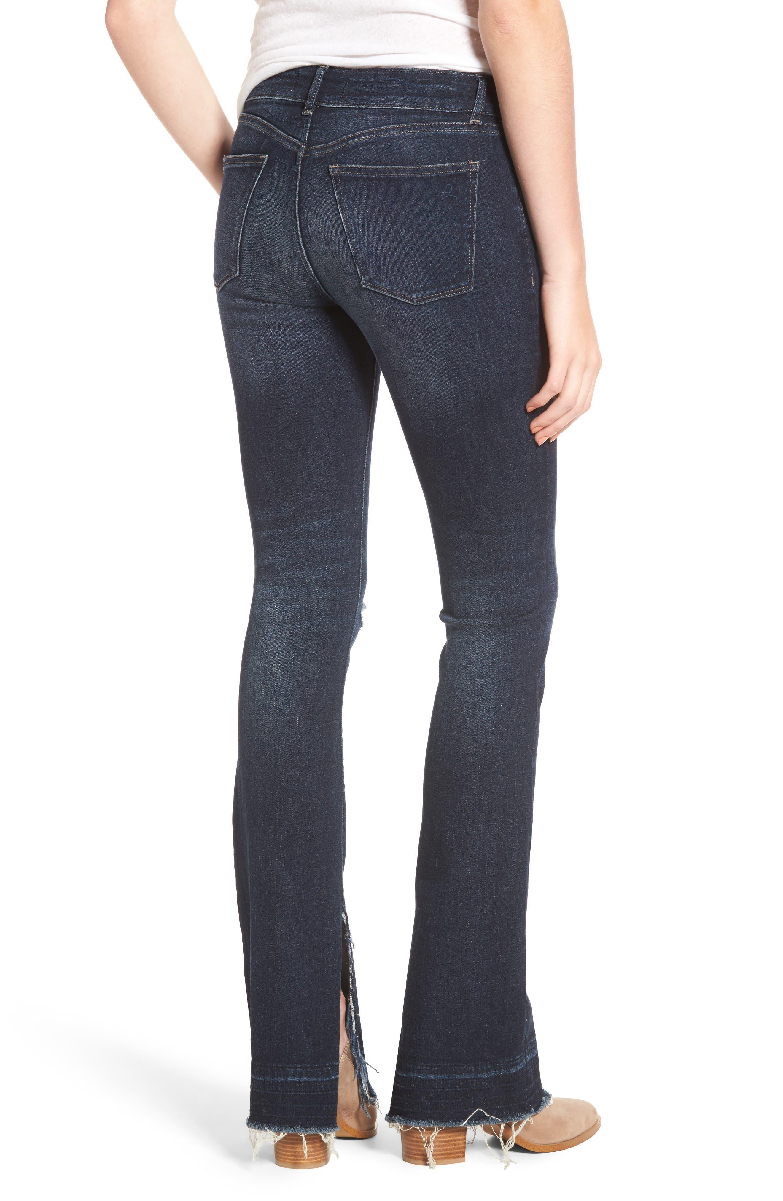 Bridget Split Hem Bootcut Jeans,                             Alternate thumbnail 2, color,
