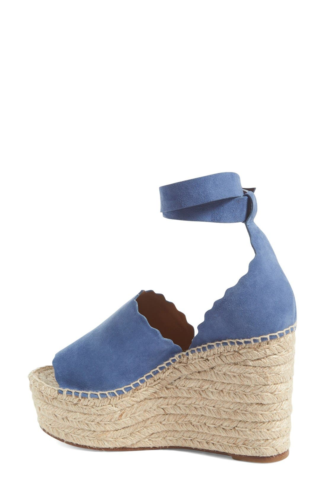 Lauren Espadrille Wedge Sandal,                             Alternate thumbnail 9, color,