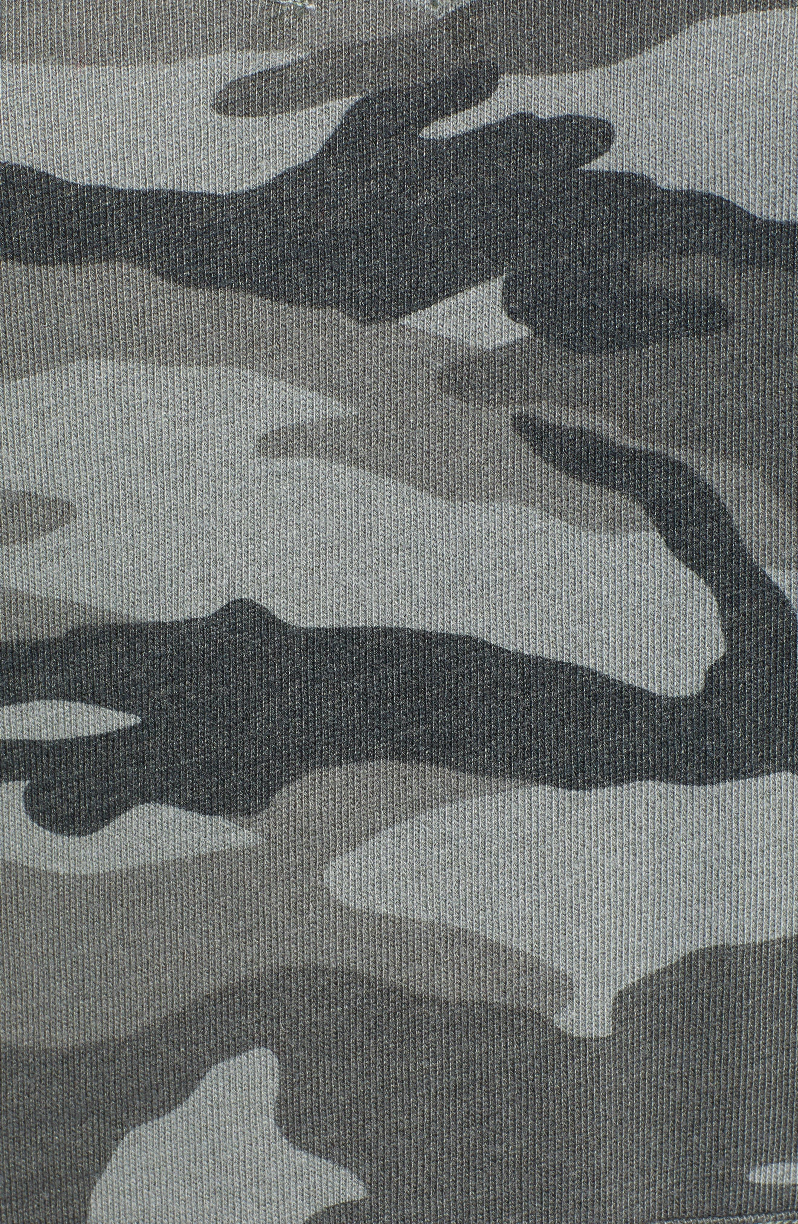 Active Camo Sweatshirt Dress,                             Alternate thumbnail 6, color,                             OLIVE BRANCH