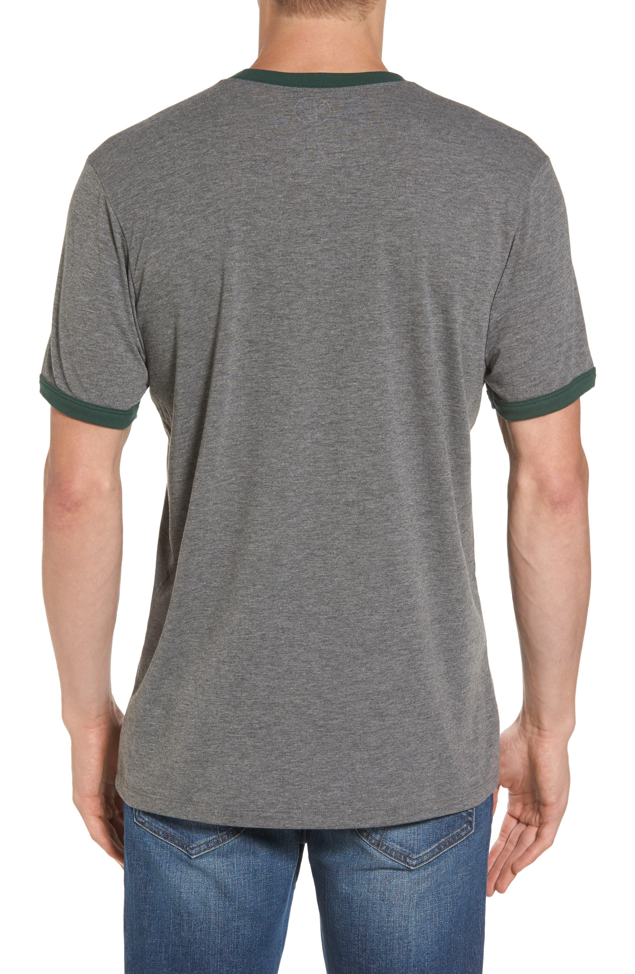 Green Bay Packers Ringer T-Shirt,                             Alternate thumbnail 2, color,                             021