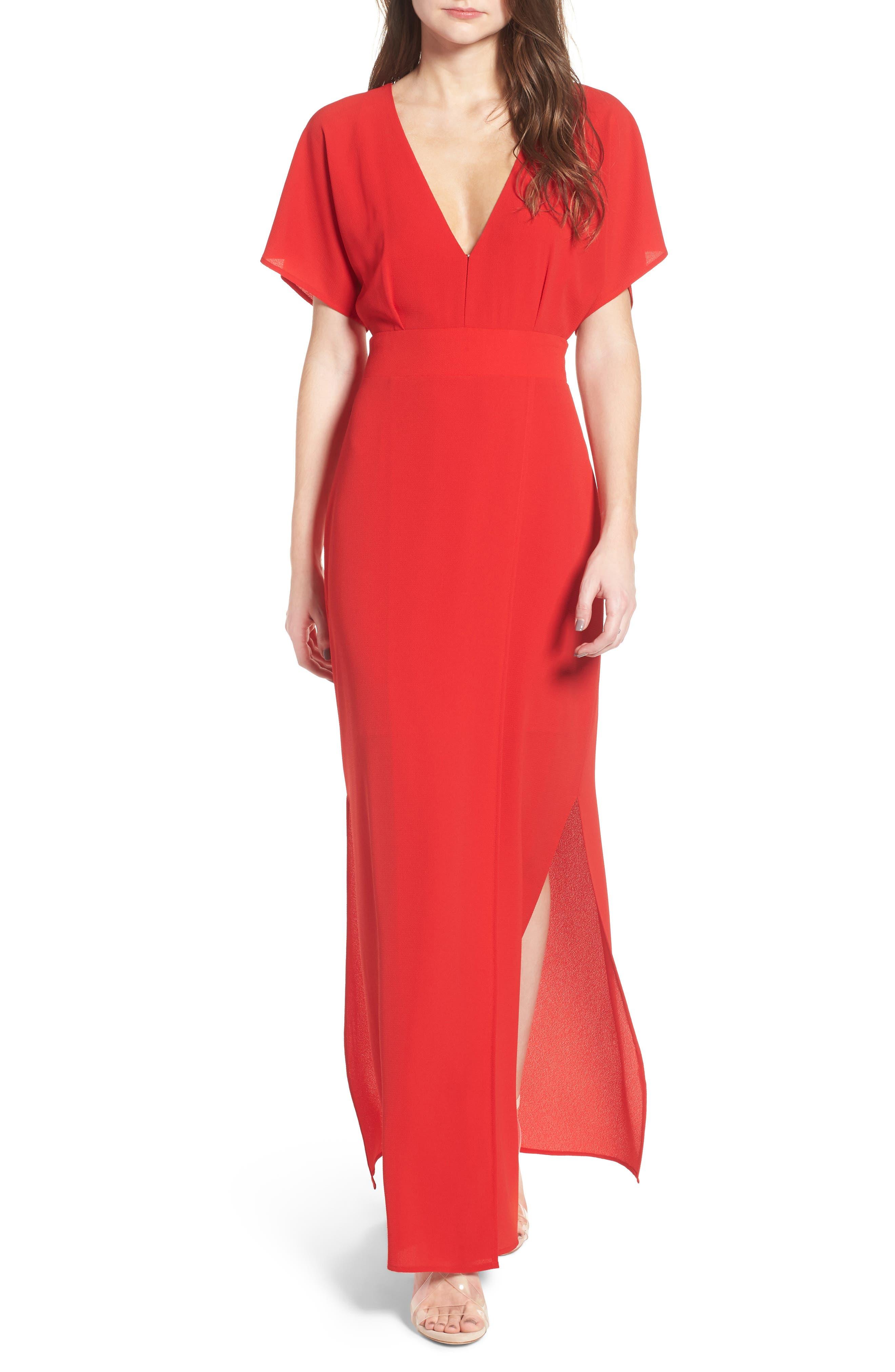 Carrara Slit Maxi Dress,                             Main thumbnail 2, color,