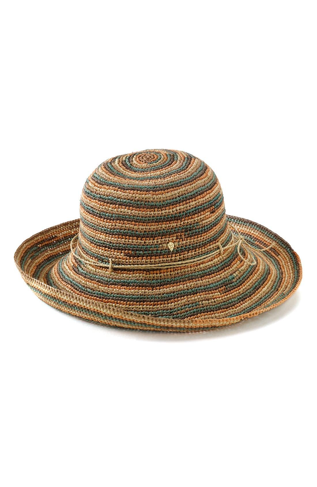 'Provence 12' Packable Raffia Hat,                             Main thumbnail 12, color,