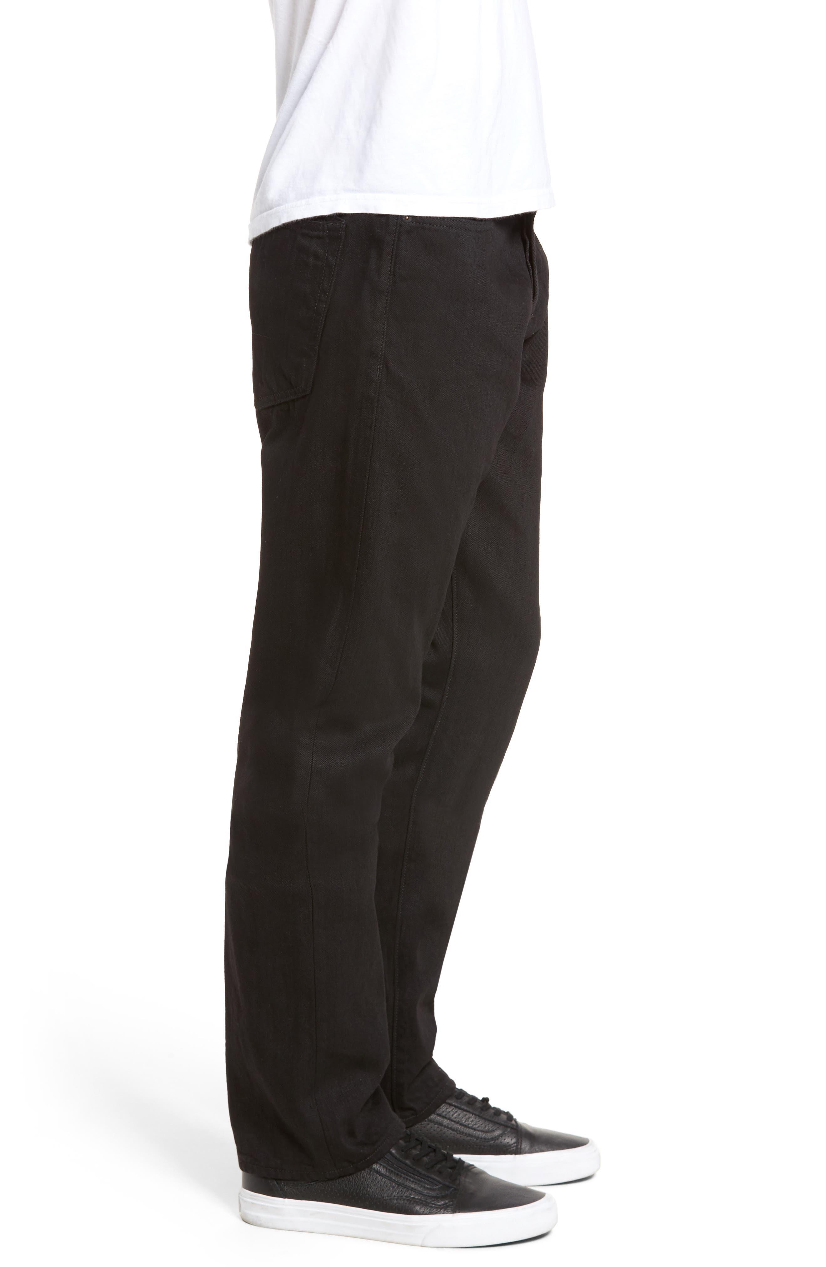 Demon Slim Straight Leg Jeans,                             Alternate thumbnail 3, color,
