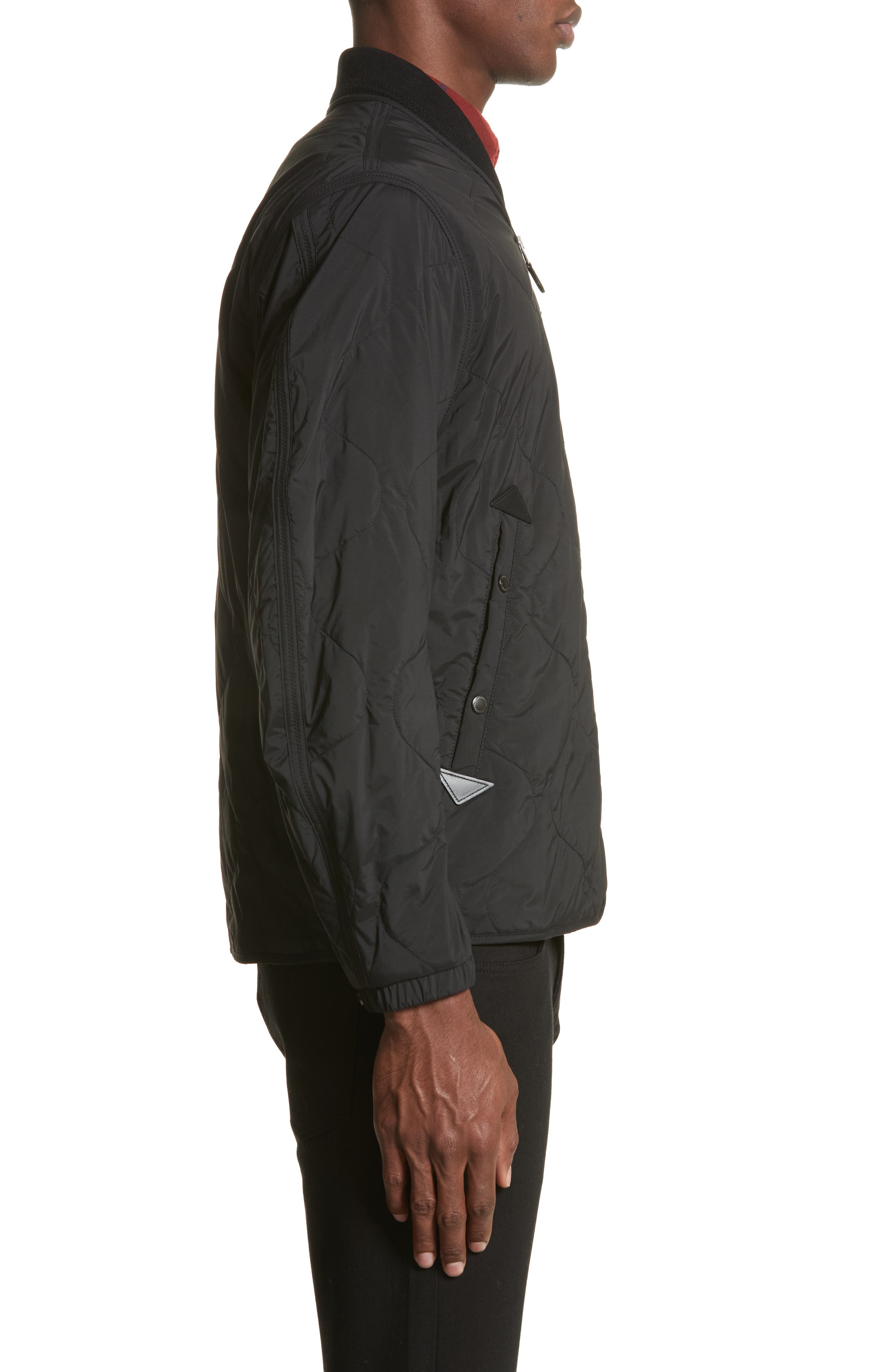 Marshall Quilted Tech Bomber Jacket,                             Alternate thumbnail 3, color,