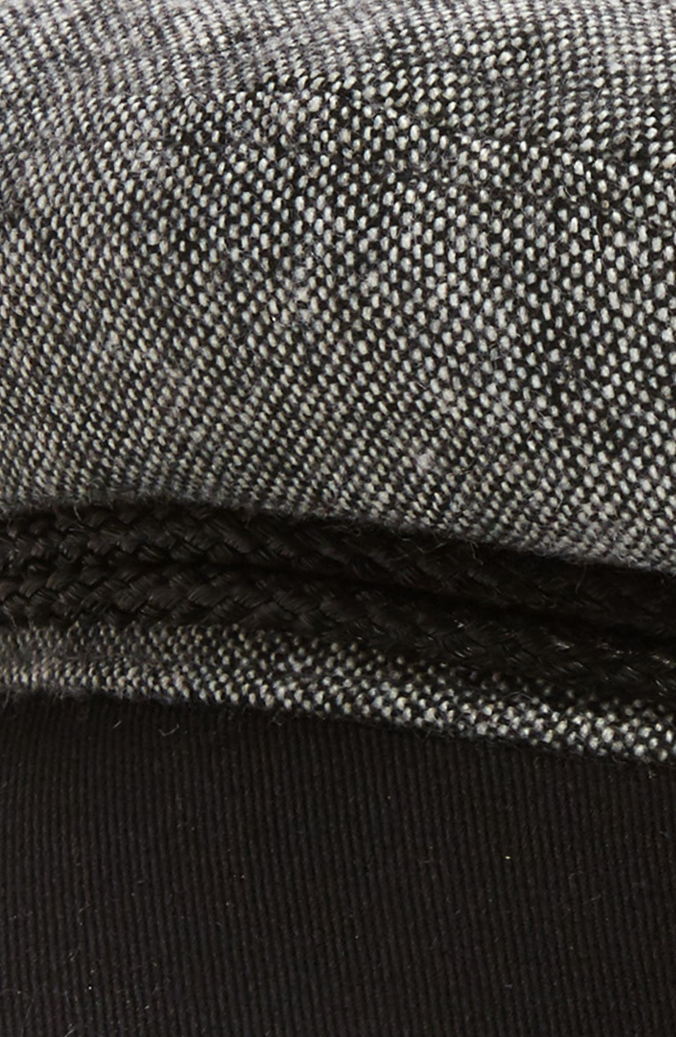 Fiddler Cap,                             Alternate thumbnail 2, color,                             BLACK/ WHITE TWEED