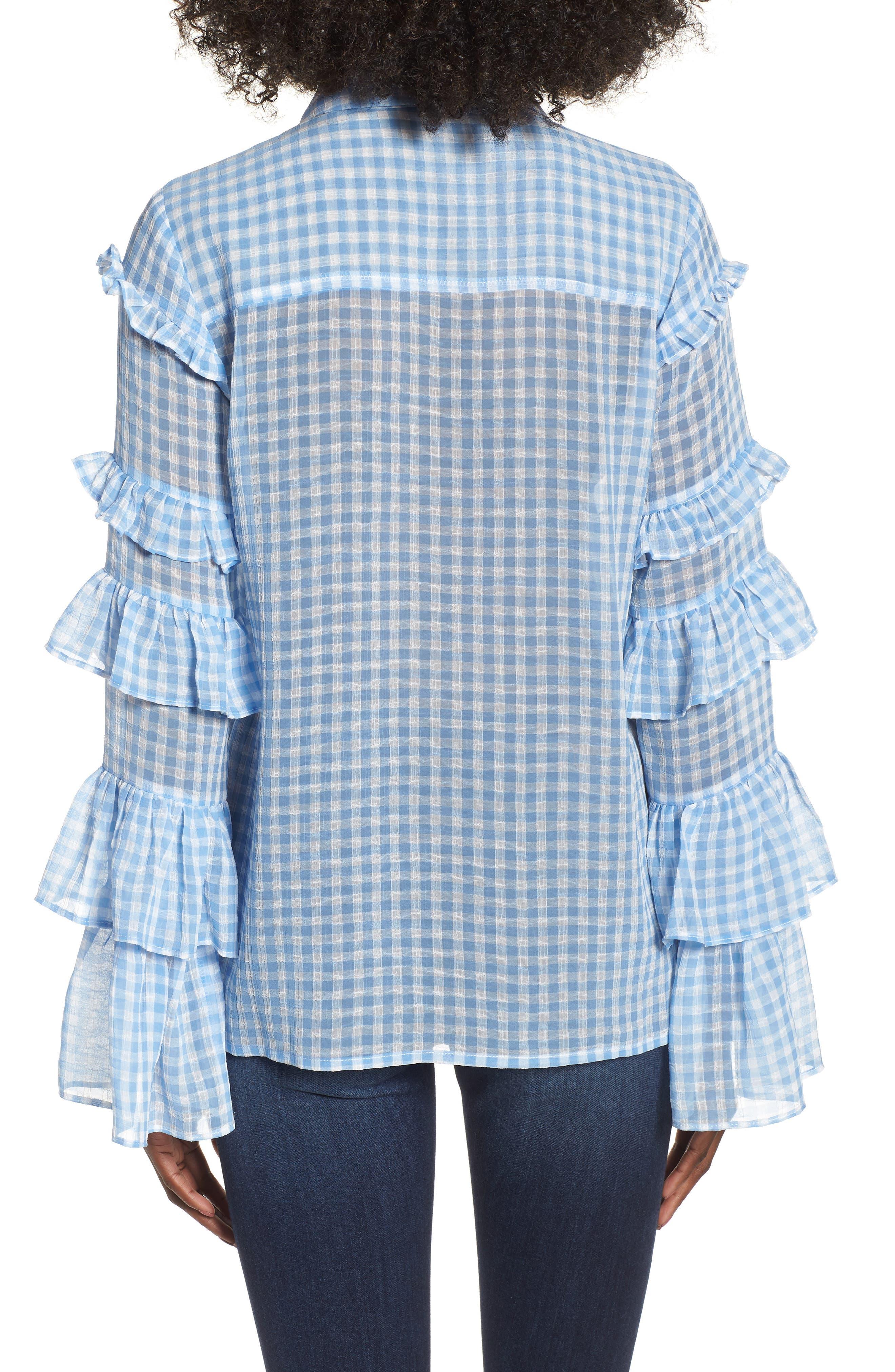 Ruffle Sleeve Shirt,                             Alternate thumbnail 2, color,                             400