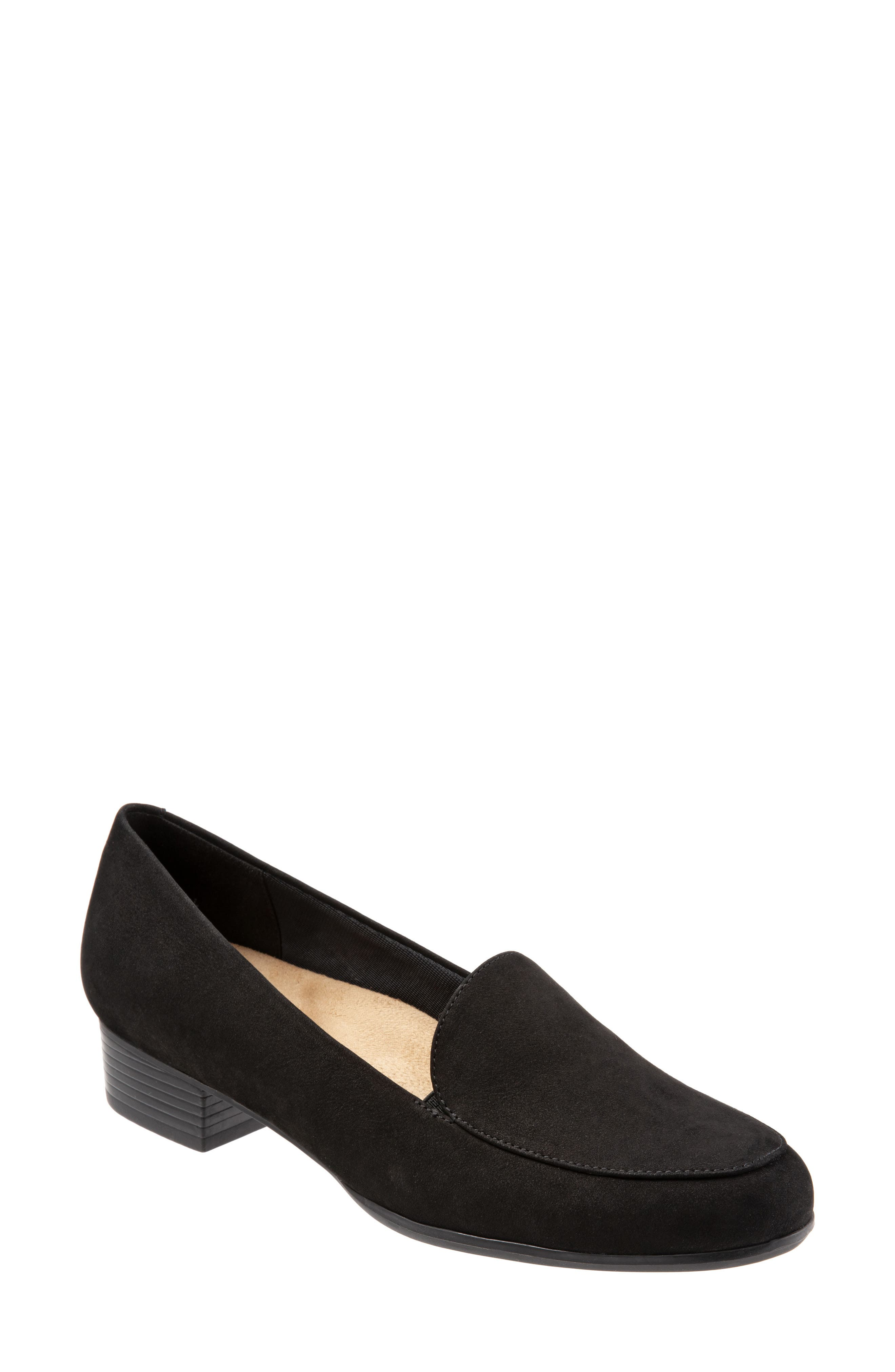 TROTTERS,                             Monarch Loafer,                             Main thumbnail 1, color,                             BLACK/ BLACK LEATHER